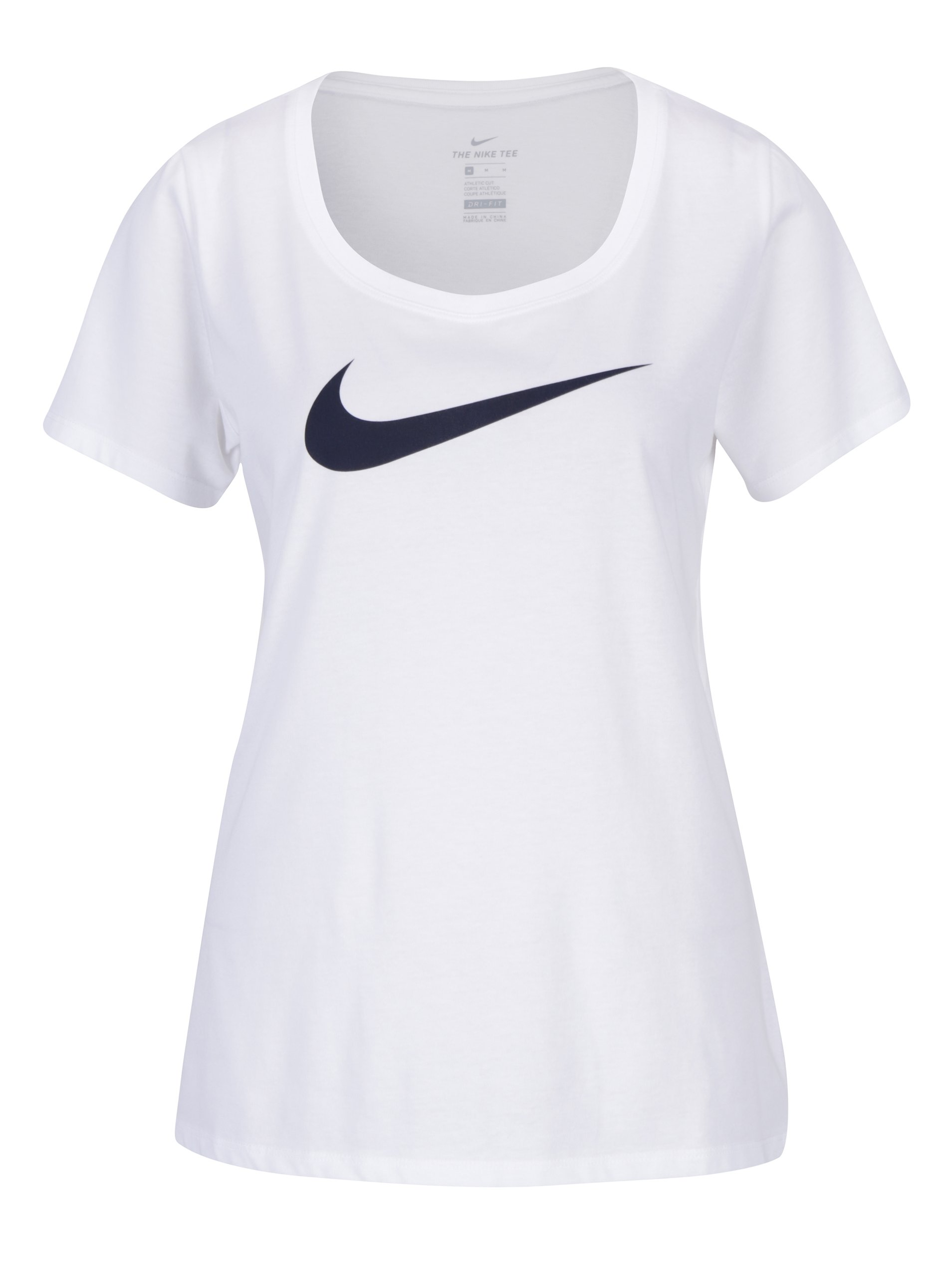 Bílé dámské funkční tričko s potiskem Nike