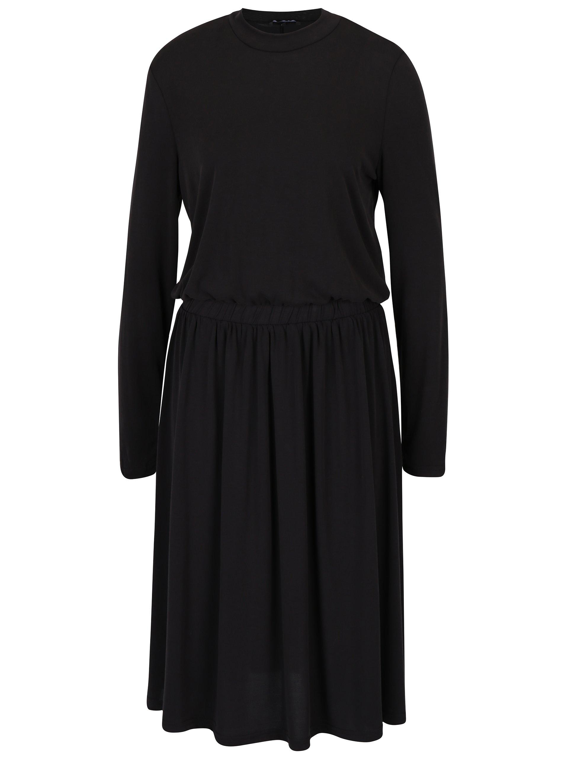 Černé šaty s dlouhým rukávem VERO MODA Metti