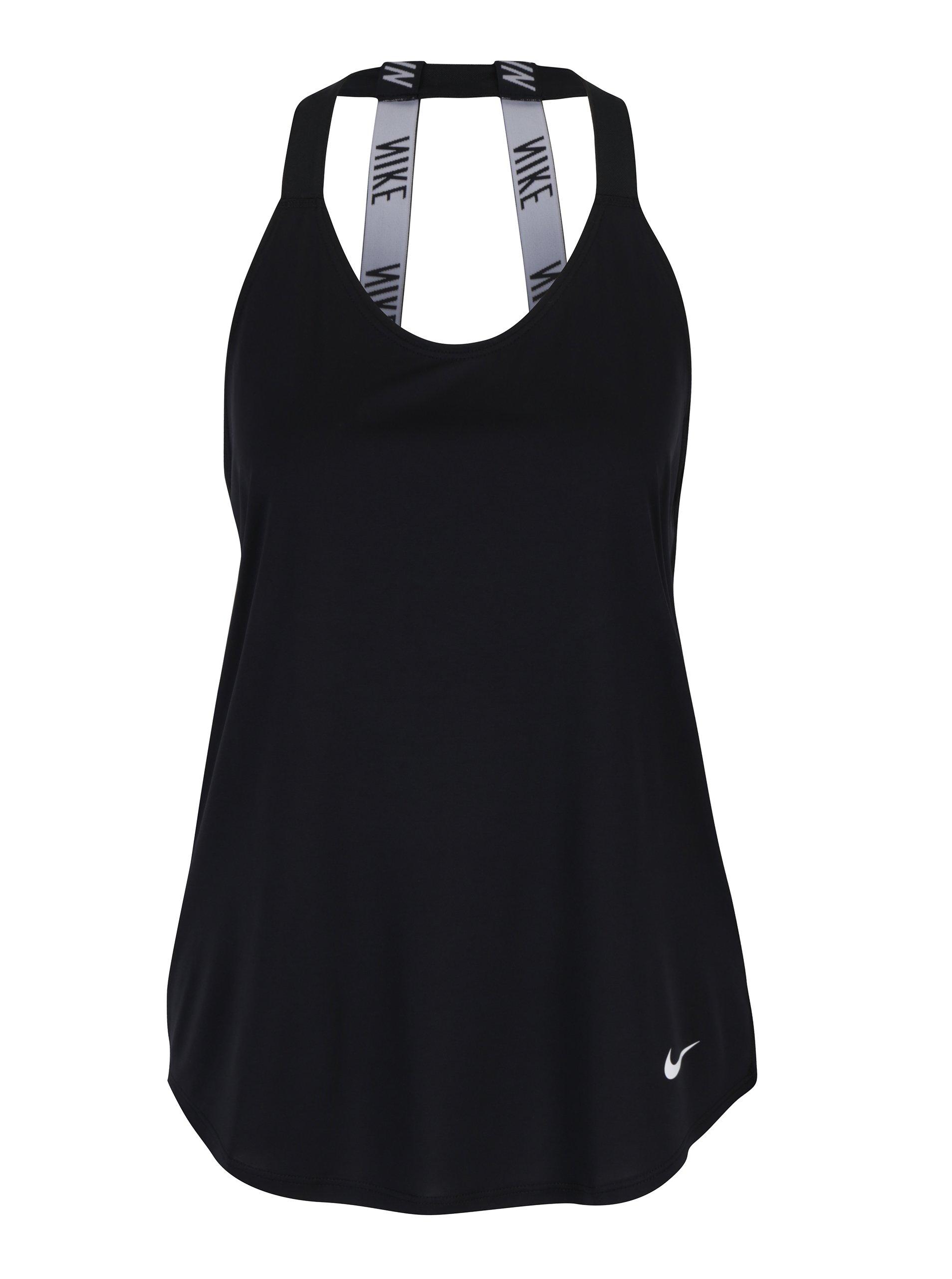 Černé dámské funkční tílko s pásky na zádech Nike