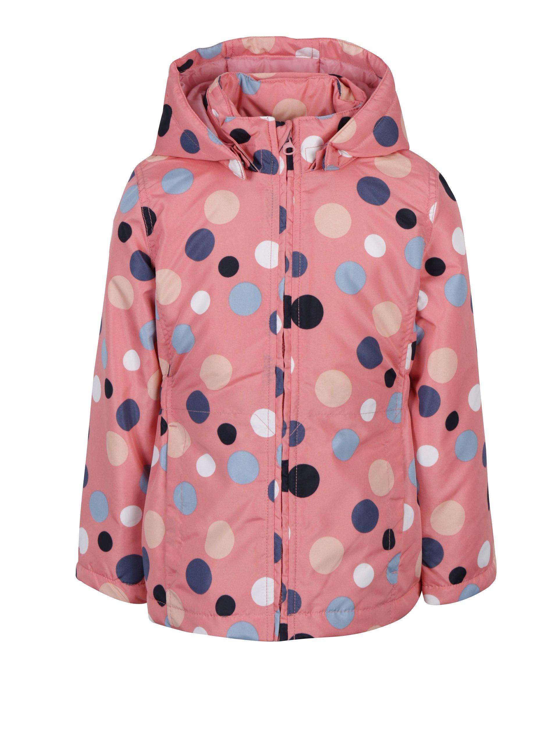 Růžová holčičí puntíkovaná bunda Name it Mello