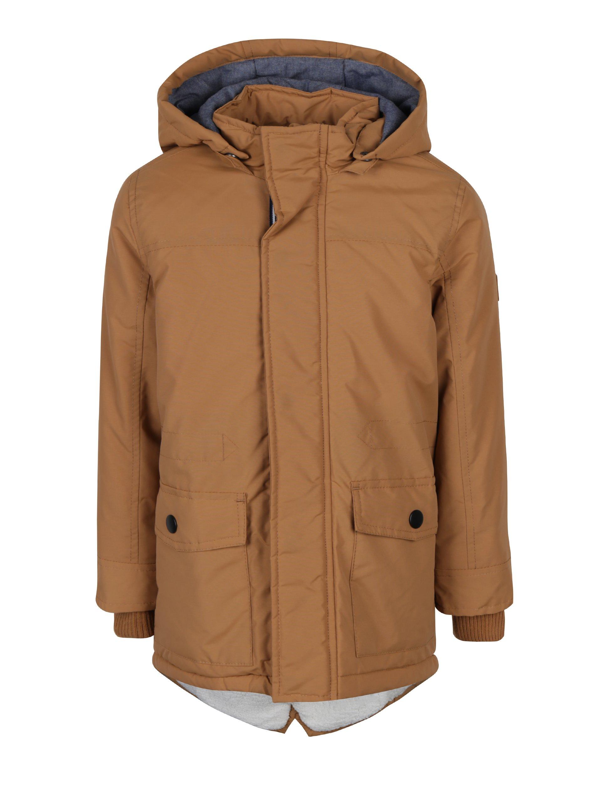 07c728204 Hnědá klučičí bunda s kapucí Name it Myles Kluci > Bundy, kabáty > Bundy