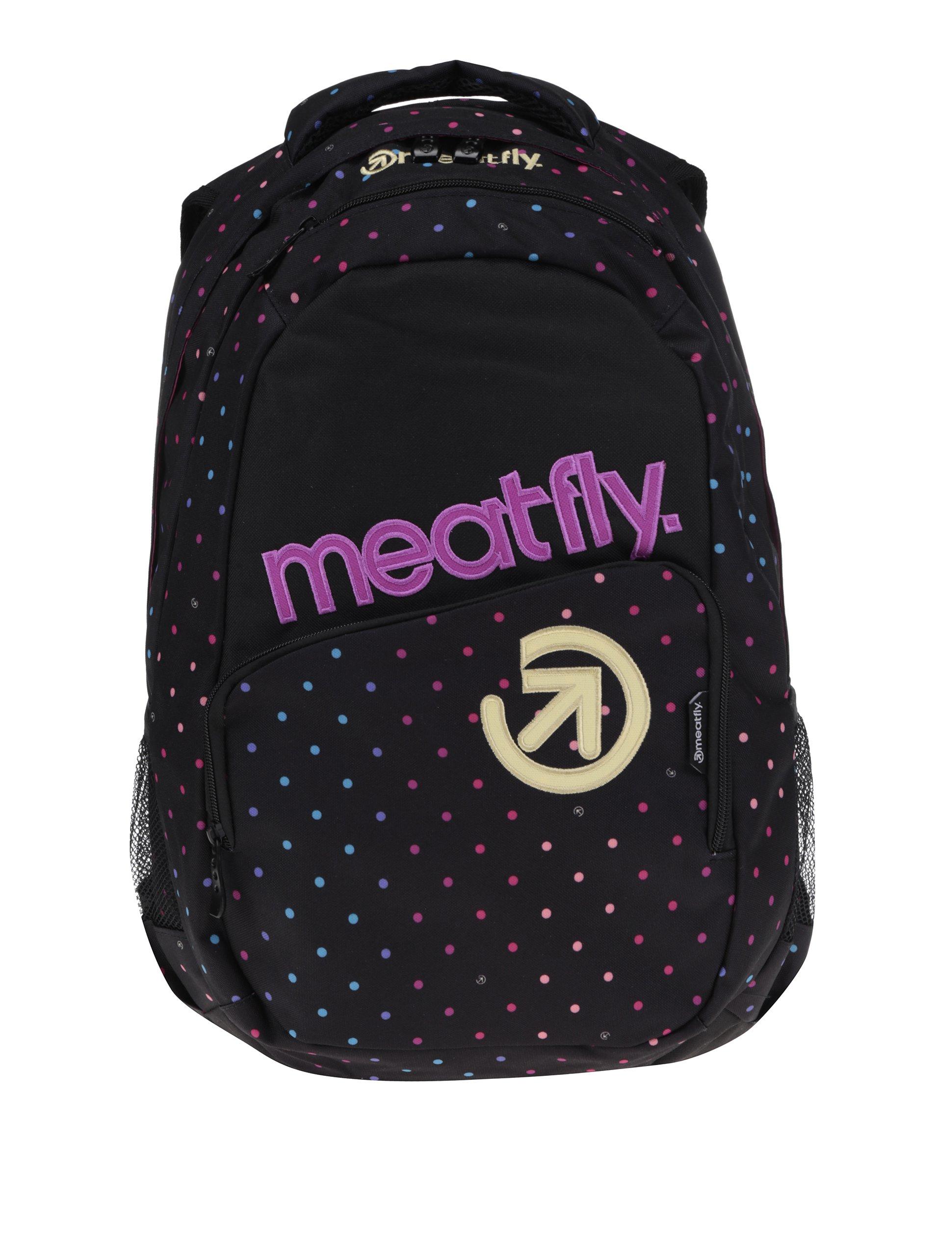 Růžovo-černý puntíkovaný batoh Meatfly Exile 2 22 l