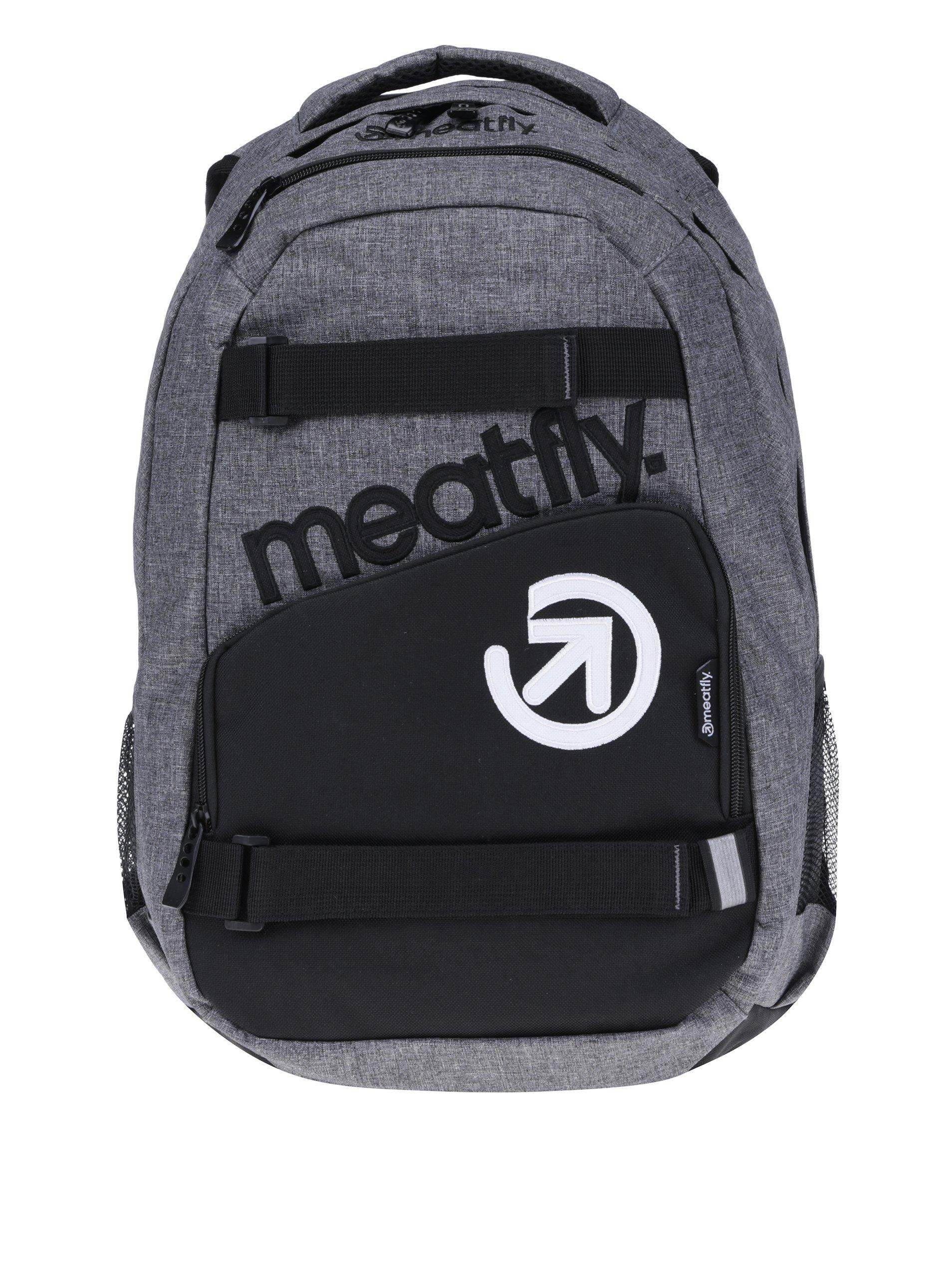 Čierno-sivý batoh Meatfly Exile 2 22 l