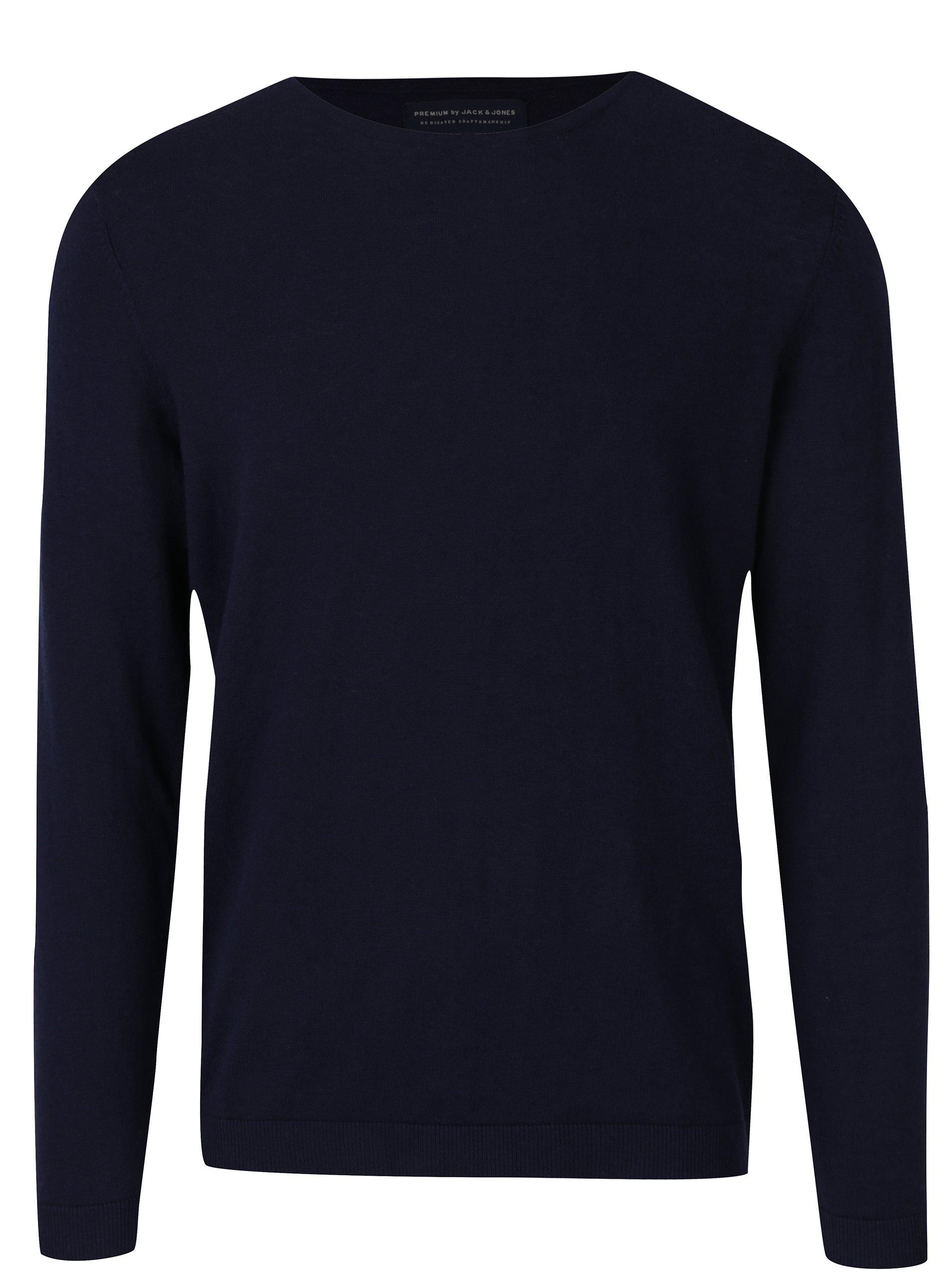 Tmavě modrý lehký svetr Jack & Jones Luke