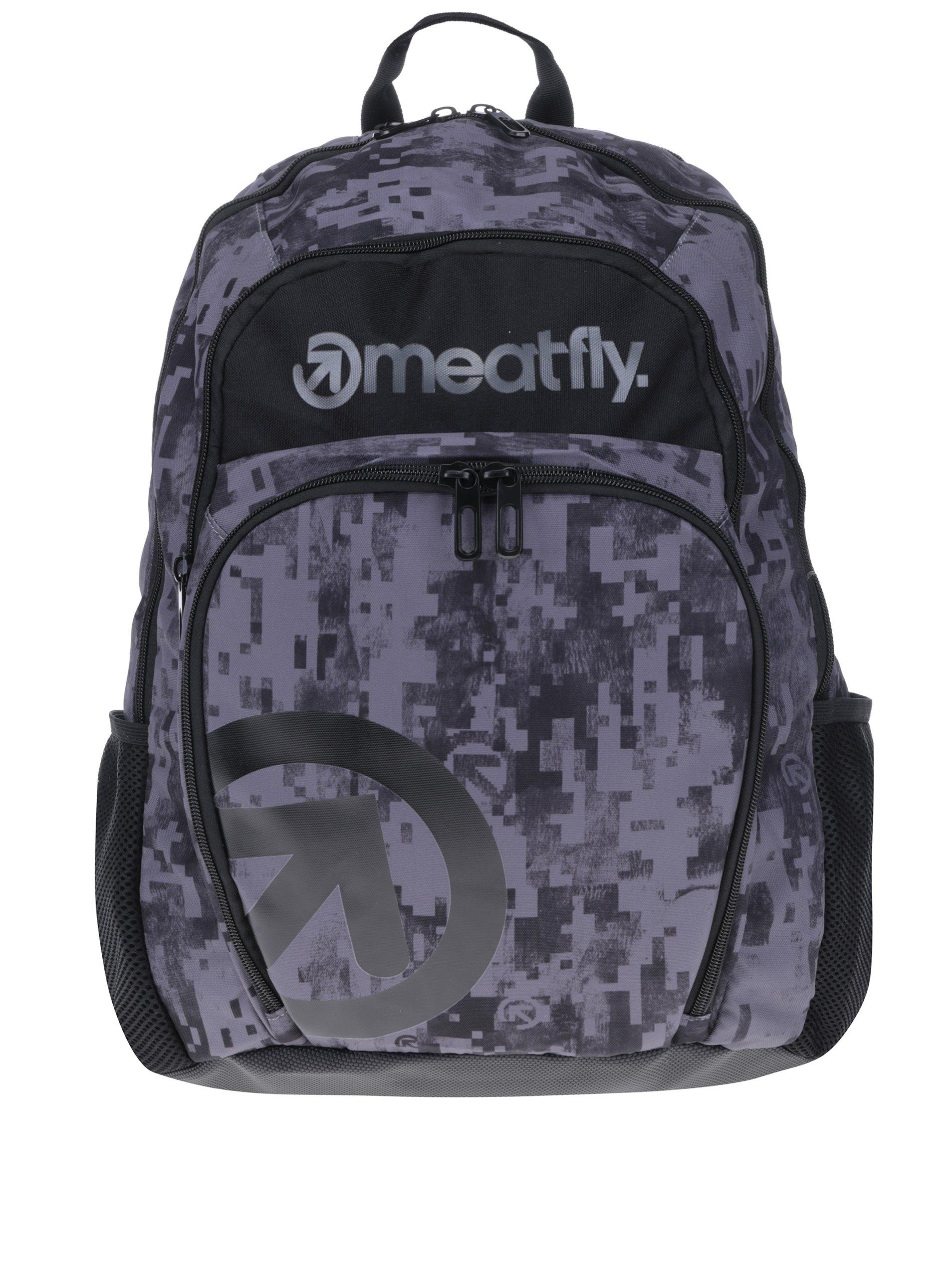 8cbcc45118 Sivý vzorovaný batoh Meatfly Vault 26 l