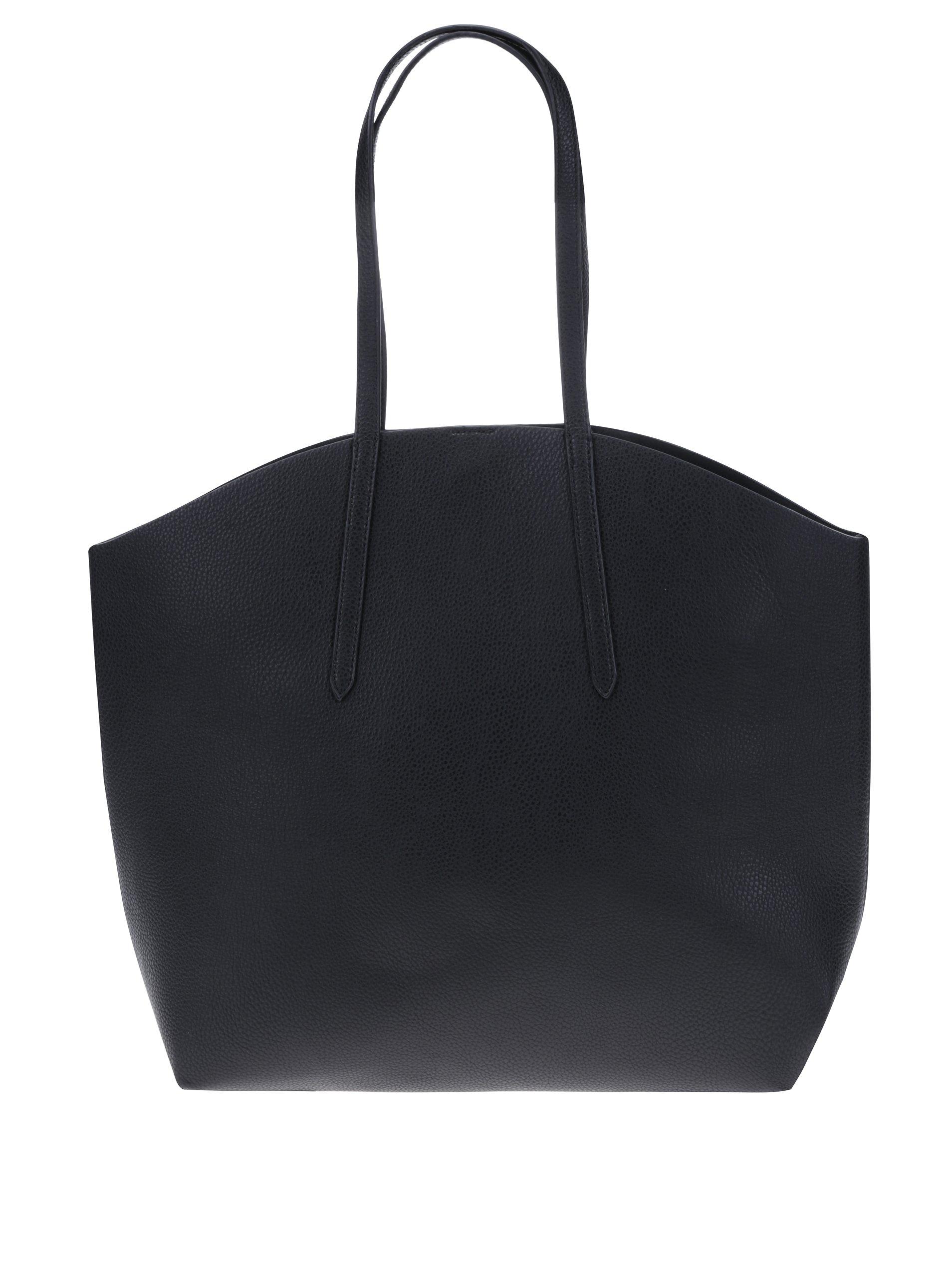 Černý oboustranný shopper Pieces Noella