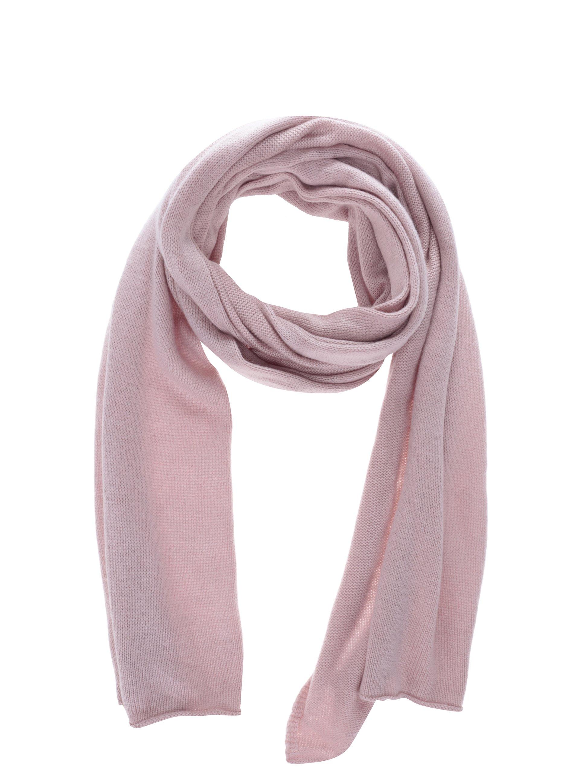 673df18ff74 Růžová šála s příměsí kašmíru Selected Femme Leilana