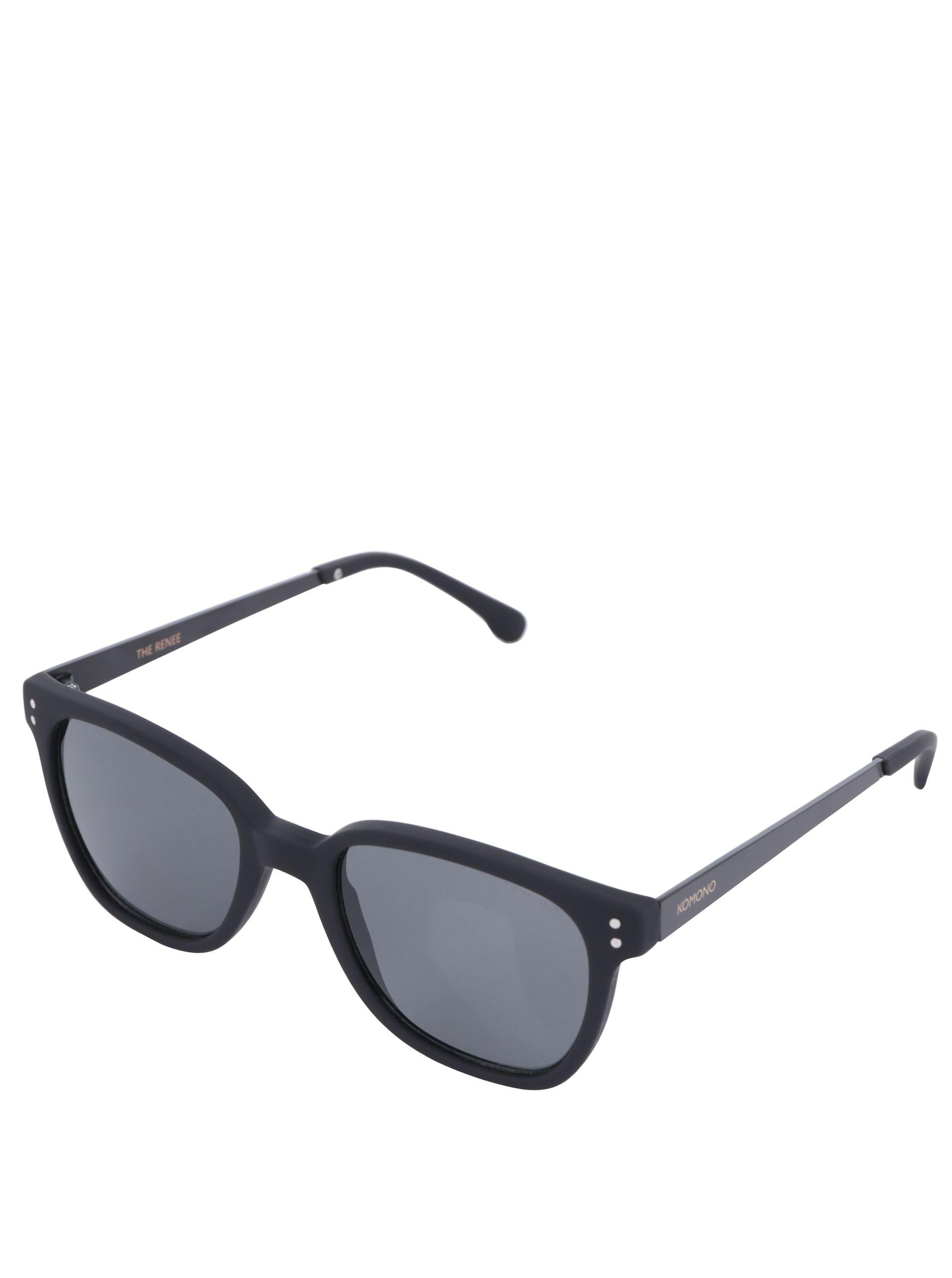 Černé pánské sluneční brýle Komono Renee