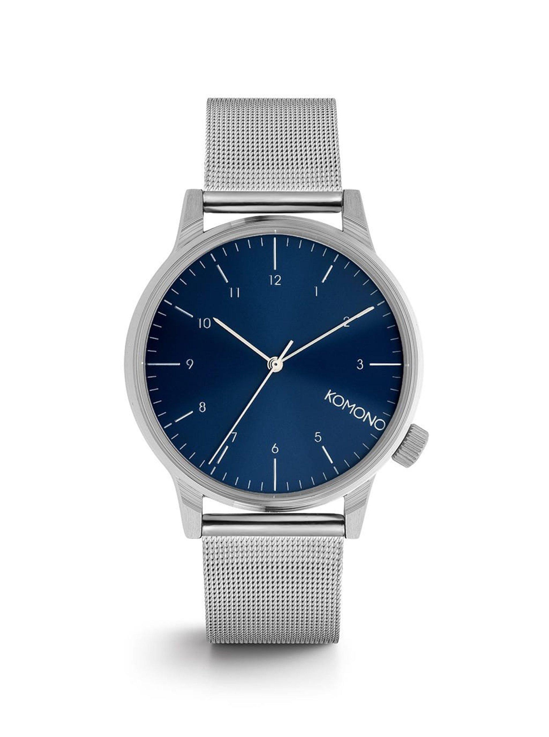 Pánské hodinky ve stříbrné barvě s nerezovým páskem Komono Winston Royale