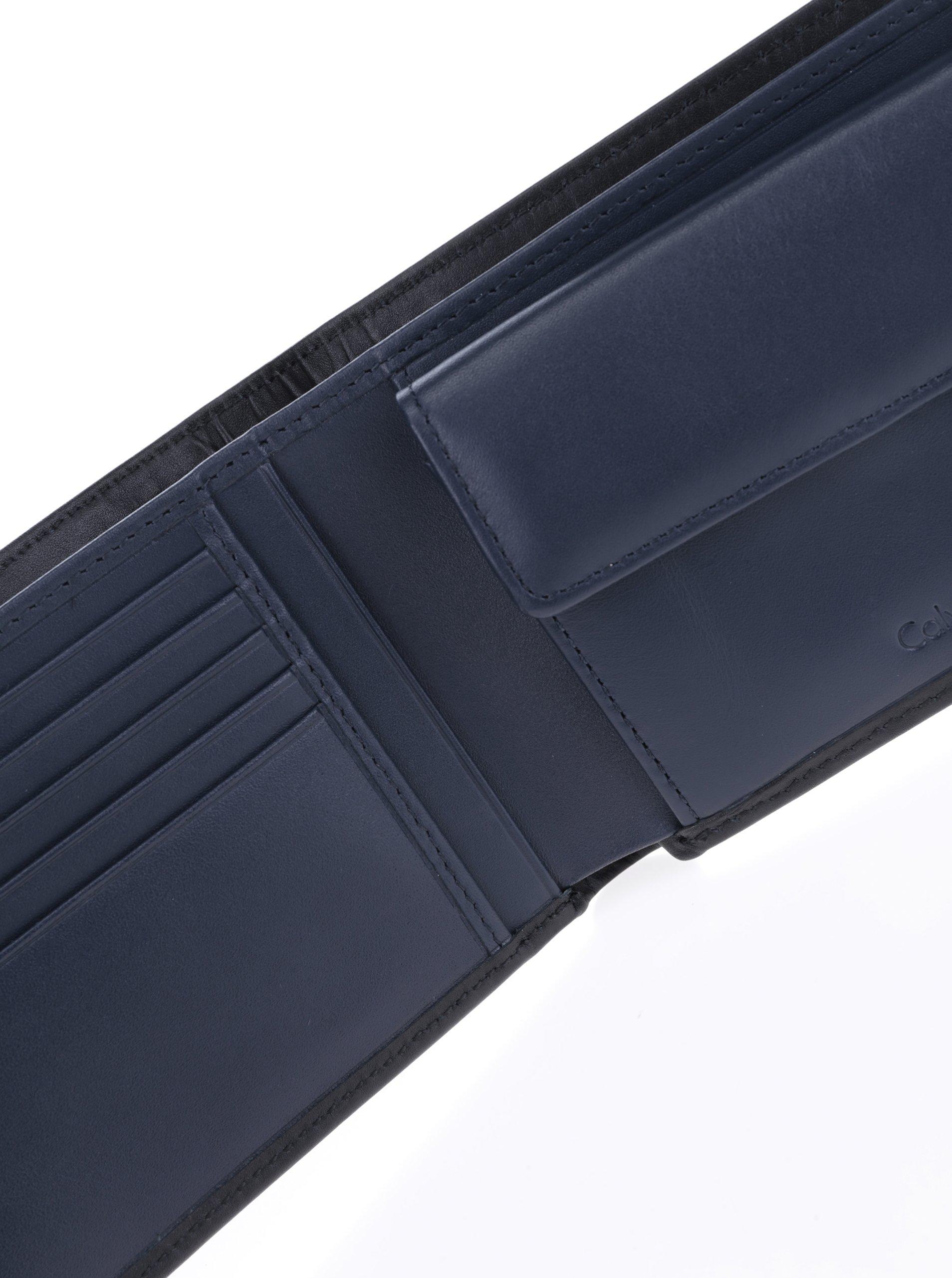 Černá pánská kožená peněženka Calvin Klein Jeans - Akční cena ... bd686b0e1a0