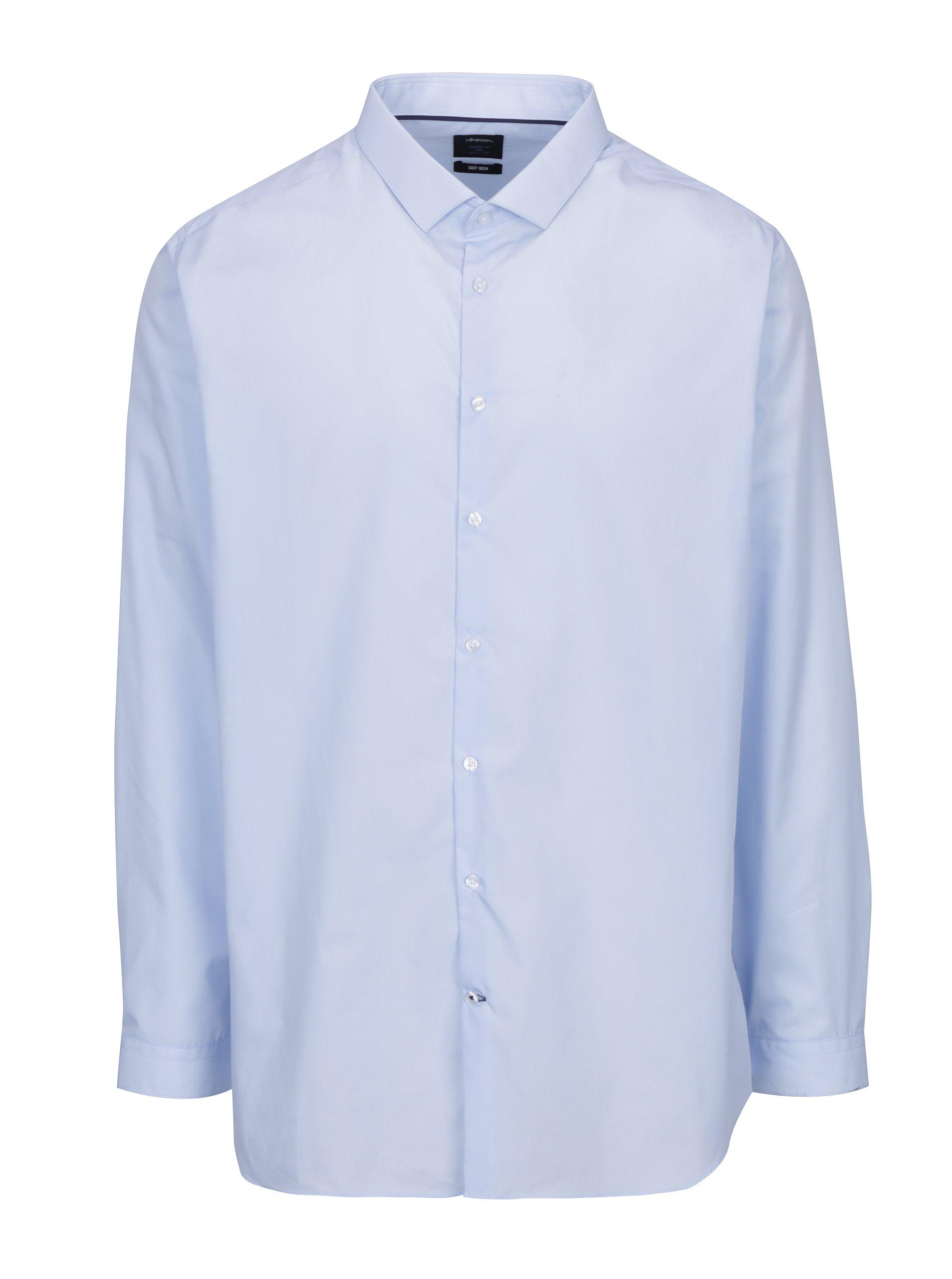 Světle modrá skinny fit formální košile Burton Menswear London