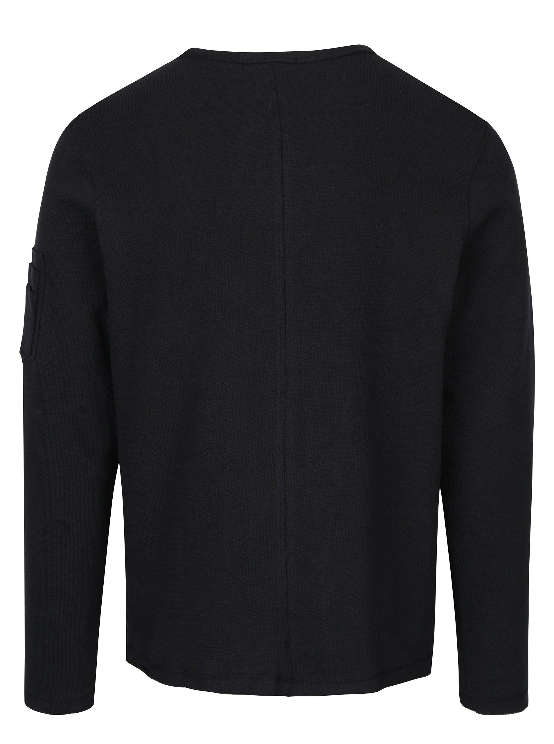 Černé triko s dlouhým rukávem Selected Homme Daniel