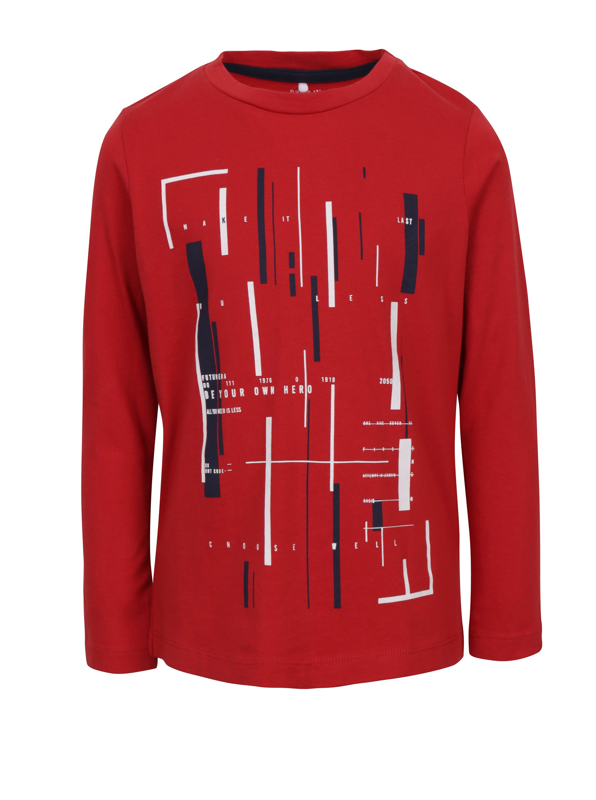 Červené klučičí tričko s dlouhým rukávem name it Karse