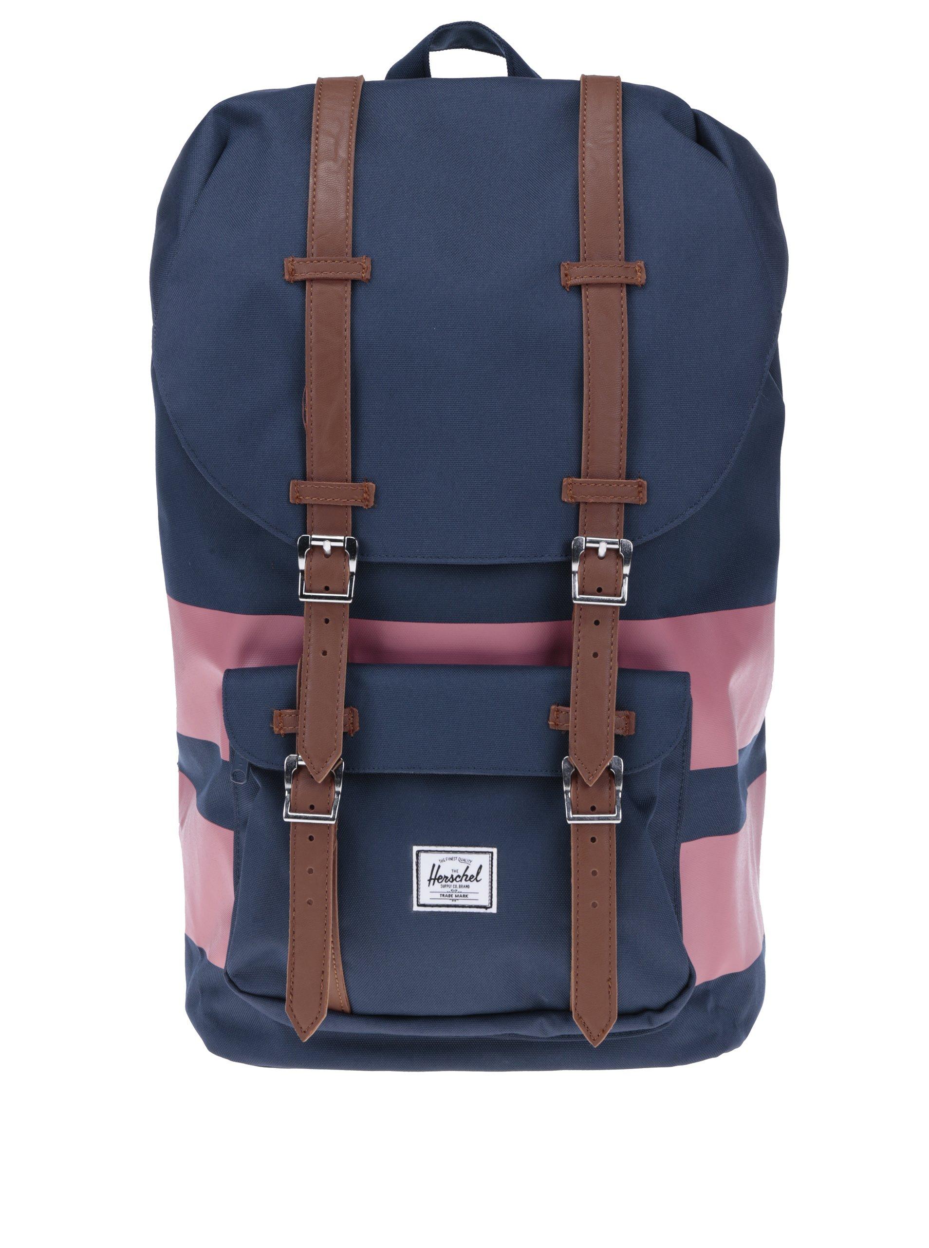 Modro-ružový batoh Herschel Little America 25 l