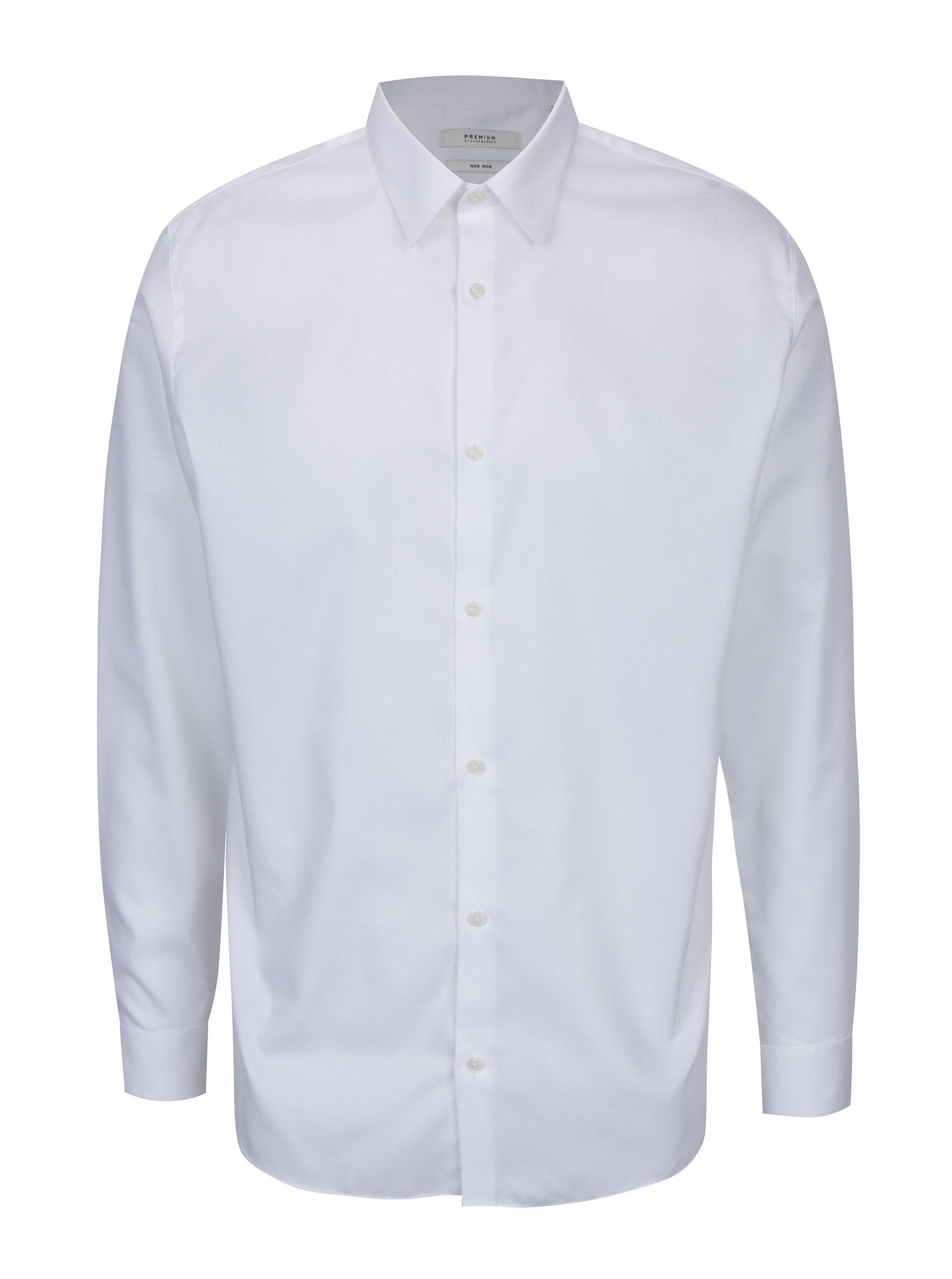 e52c1b97c753 Biela formálna slim fit košeľa Jack   Jones Non