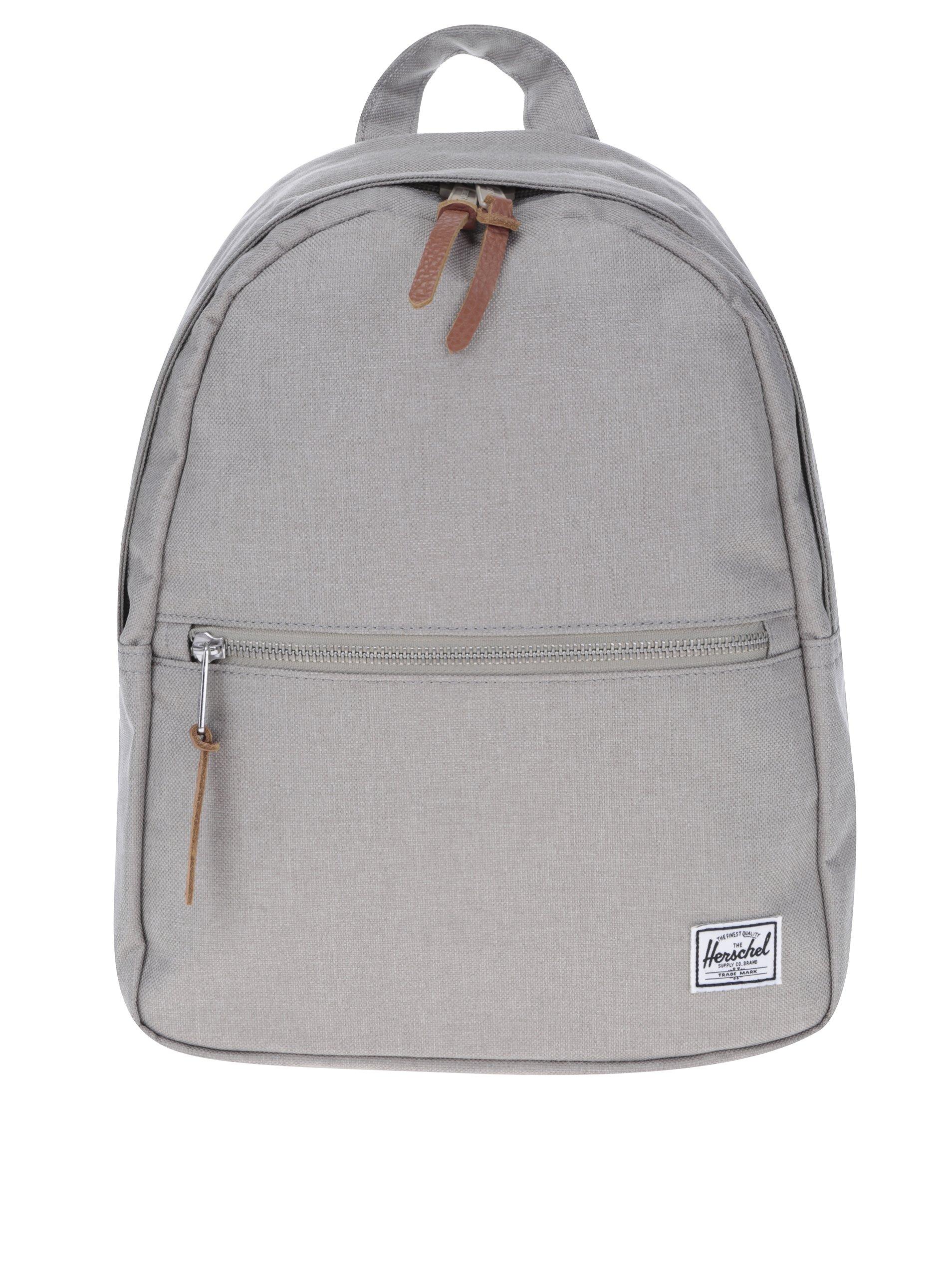 Světle šedý malý batoh Herschel Town 7 l