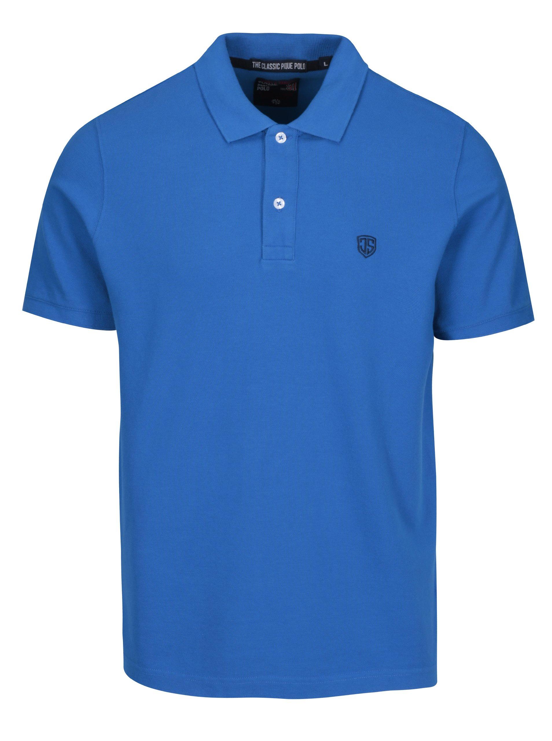 Modré pánské polo triko Jimmy Sanders