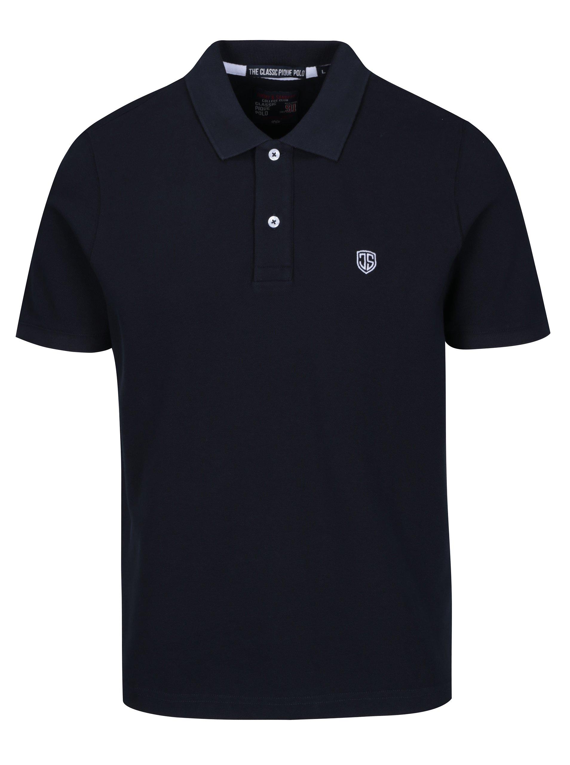 Tmavě modré pánské polo triko Jimmy Sanders