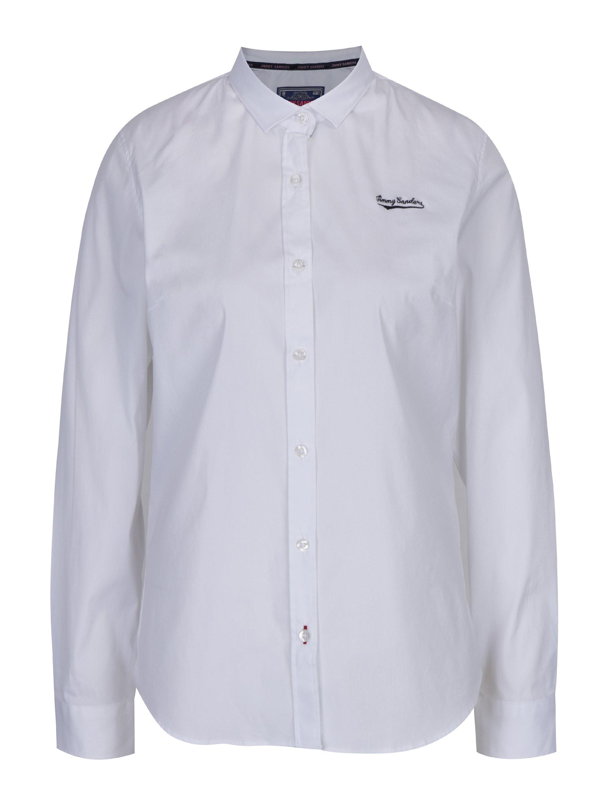 Bílá dámská košile s dlouhým rukávem Jimmy Sanders