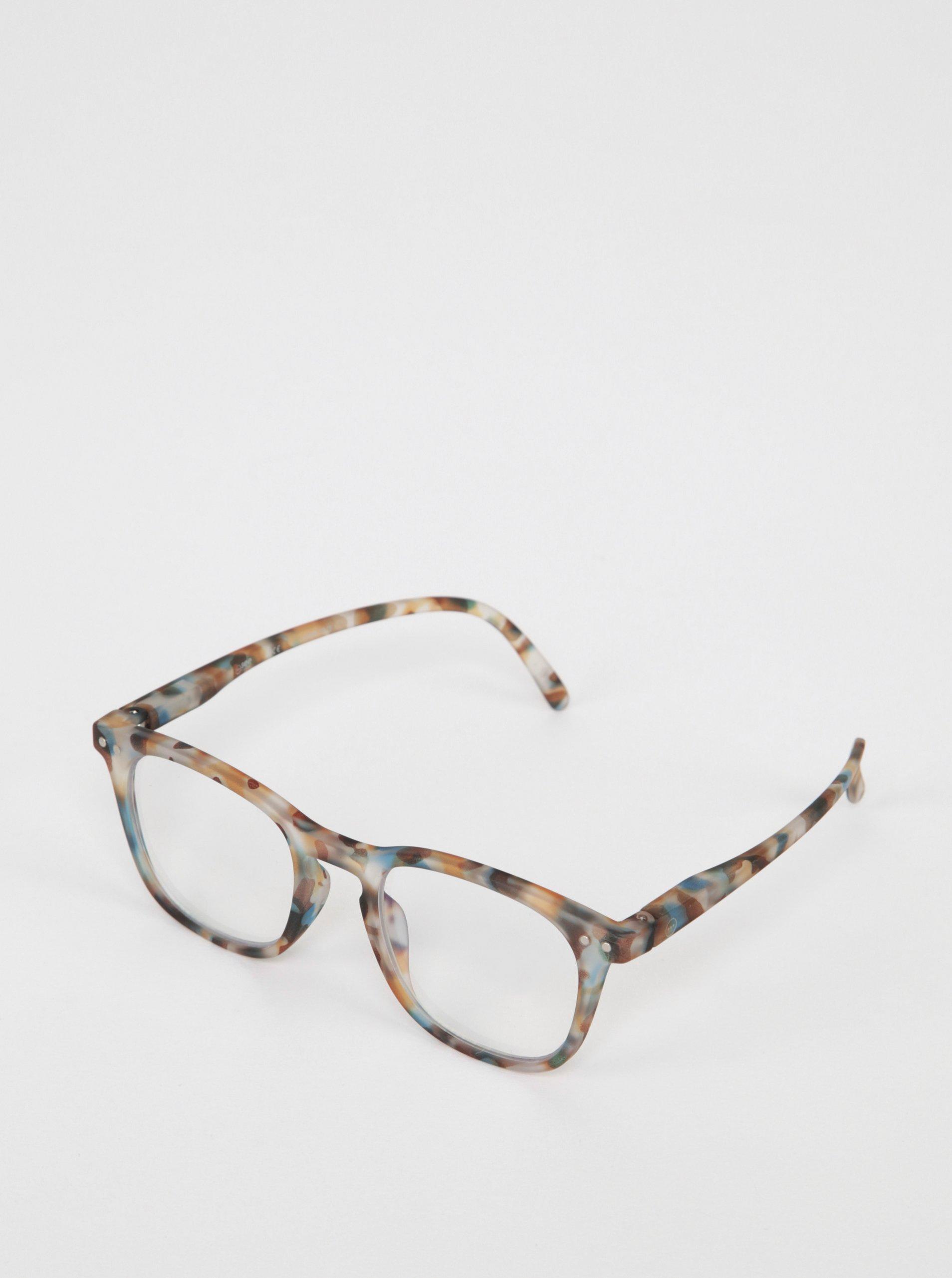 Modro-hnedé detské maskáčové ochranné okuliare k PC IZIPIZI #E