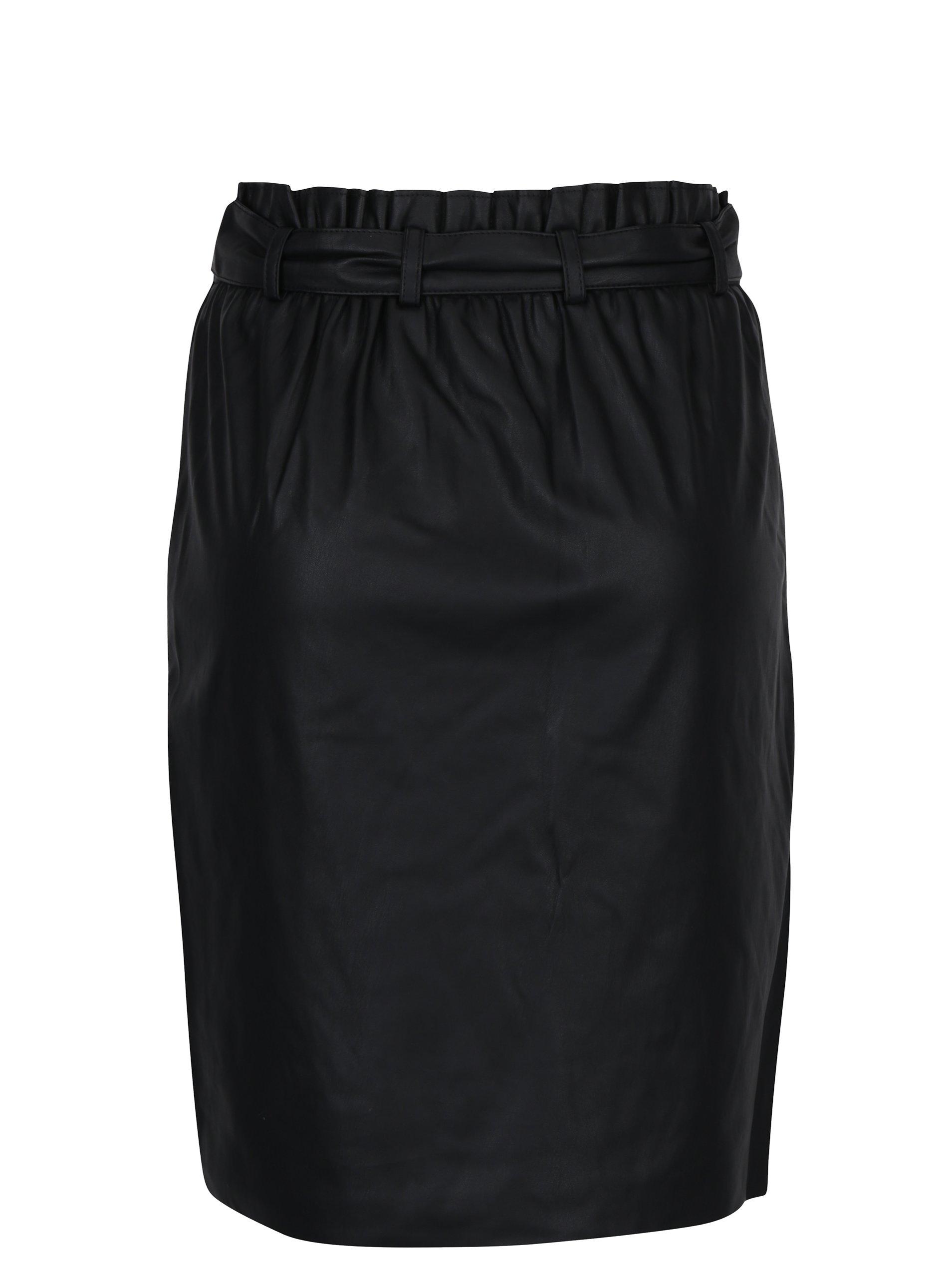 Černá pouzdrová sukně se zavazováním VILA Anja - eleganter.cz 34fd53dbff