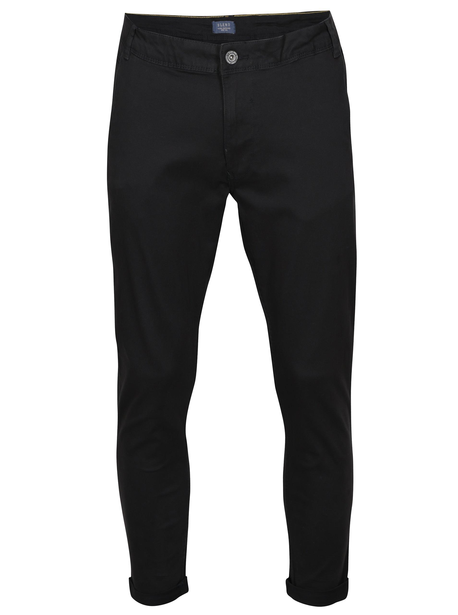 Černé slim kalhoty Blend