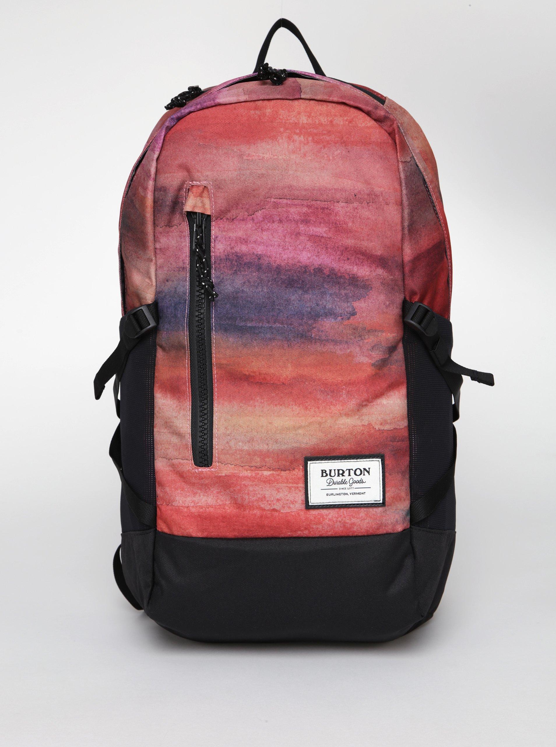 Cihlový vzorovaný dámský batoh Burton WMS Prospect 21 l
