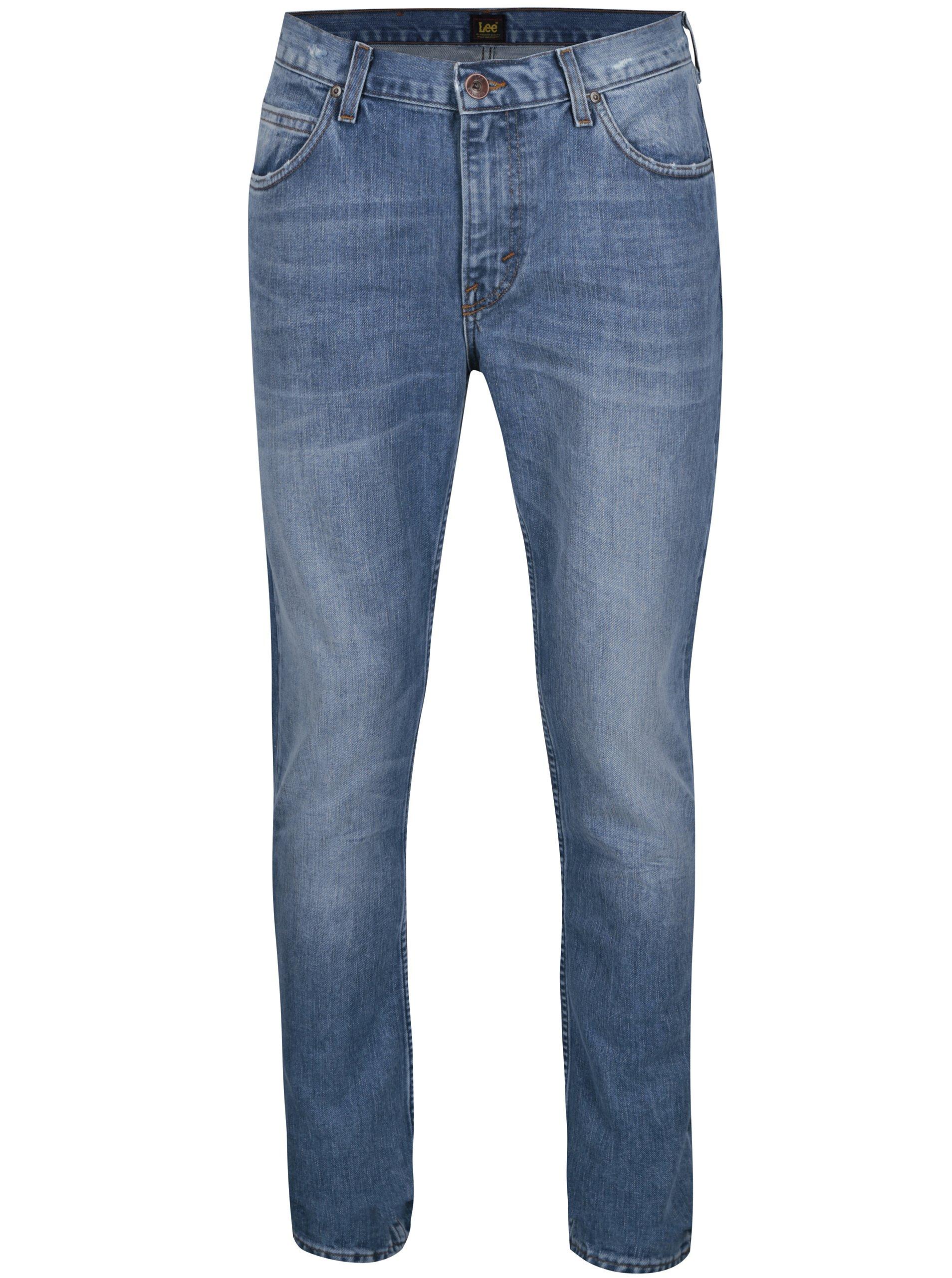 b32e81ec2a0 Modré pánské slim fit džíny s vyšisovaným efektem Lee