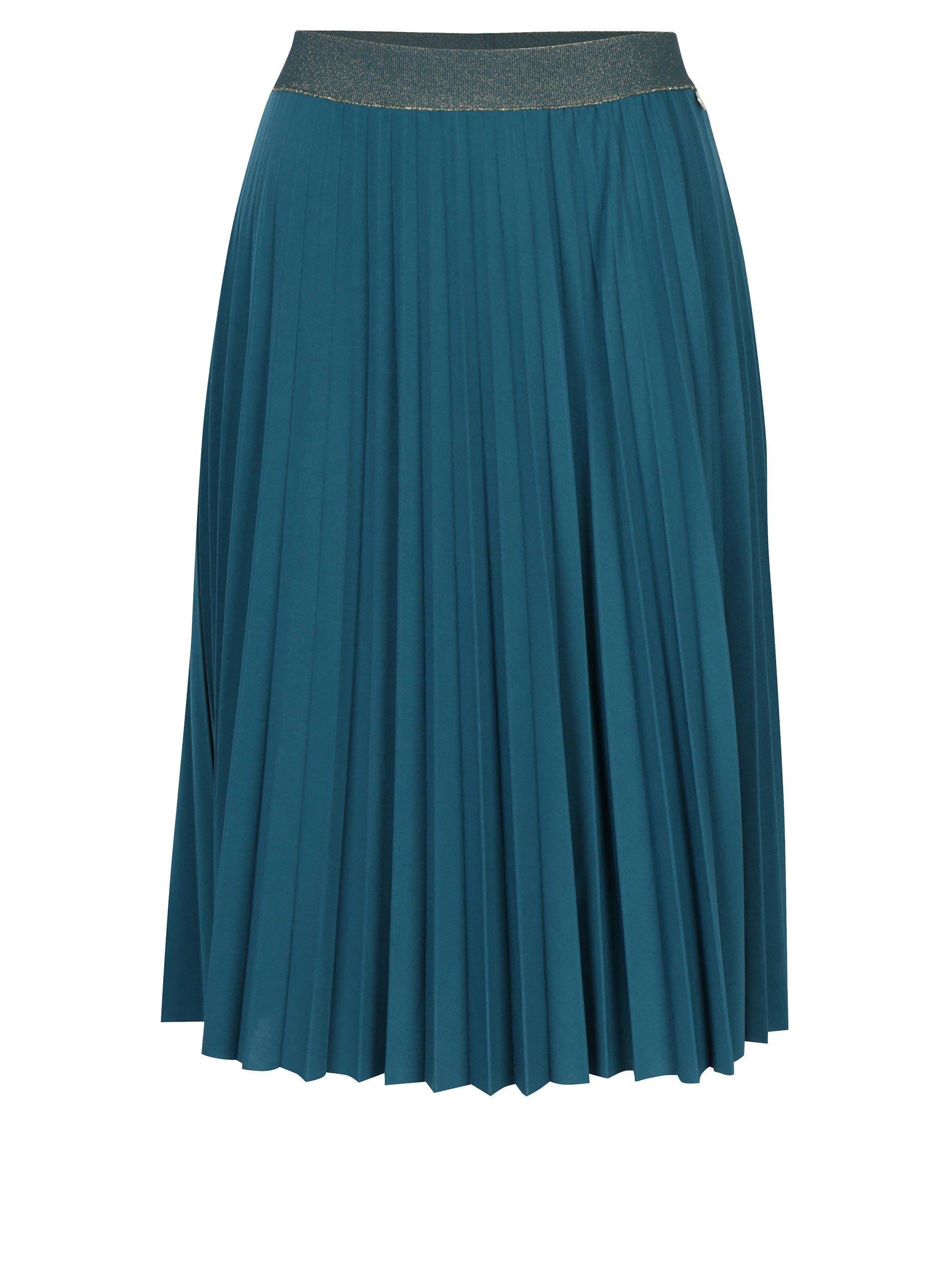 Tmavě zelená plisovaná sukně Rich & Royal