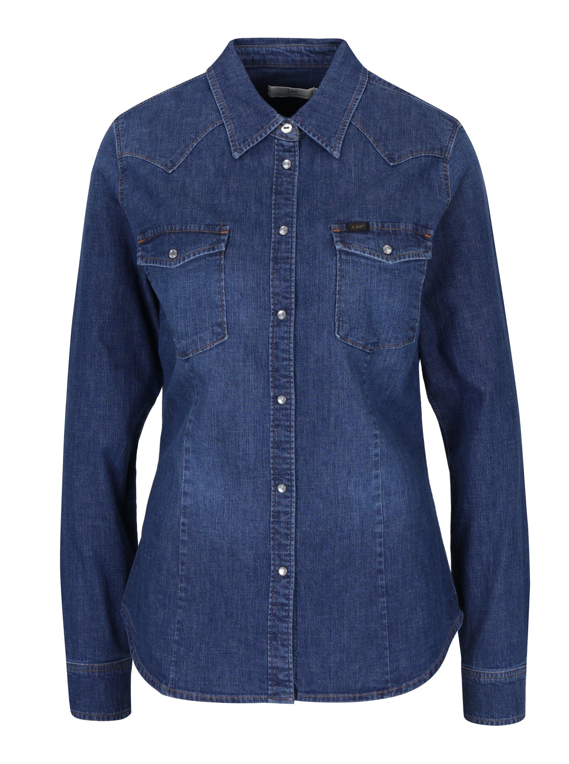 Modrá dámská slim košile Lee