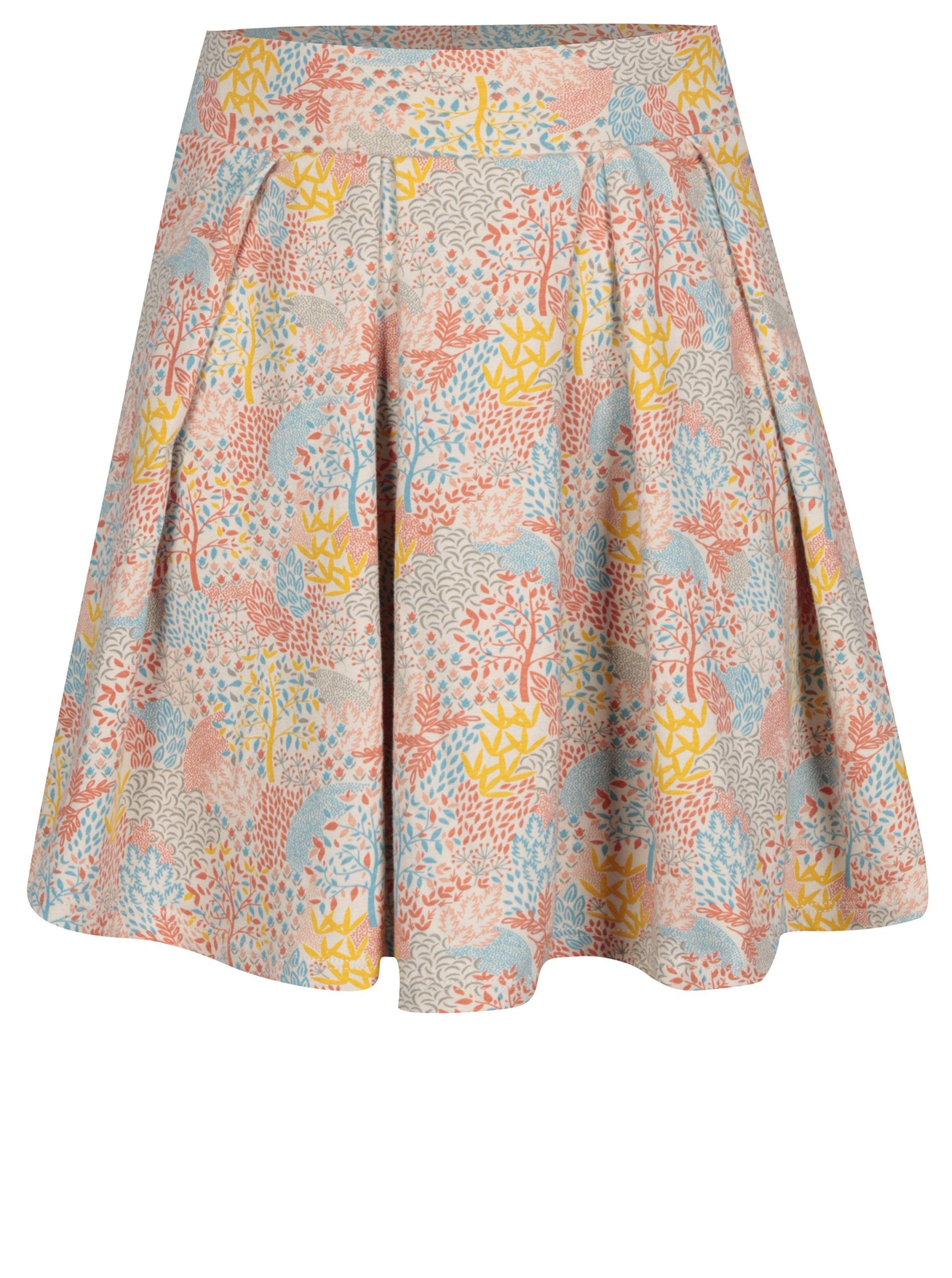 Oranžovo-krémová vzorovaná holčičí sukně 5.10.15.