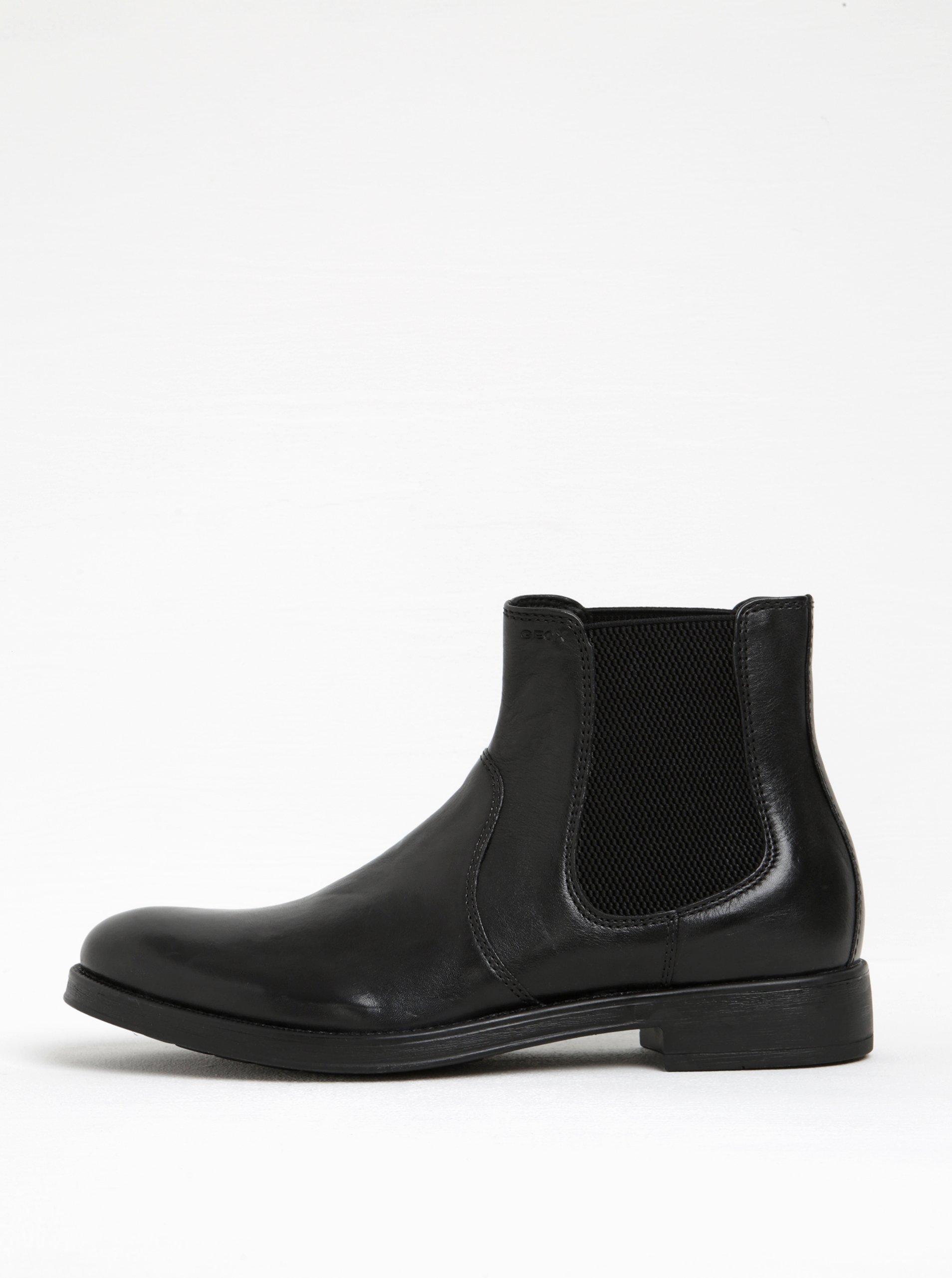 Čierne pánske kožené chelsea topánky Geox Blaxe B 043d190191