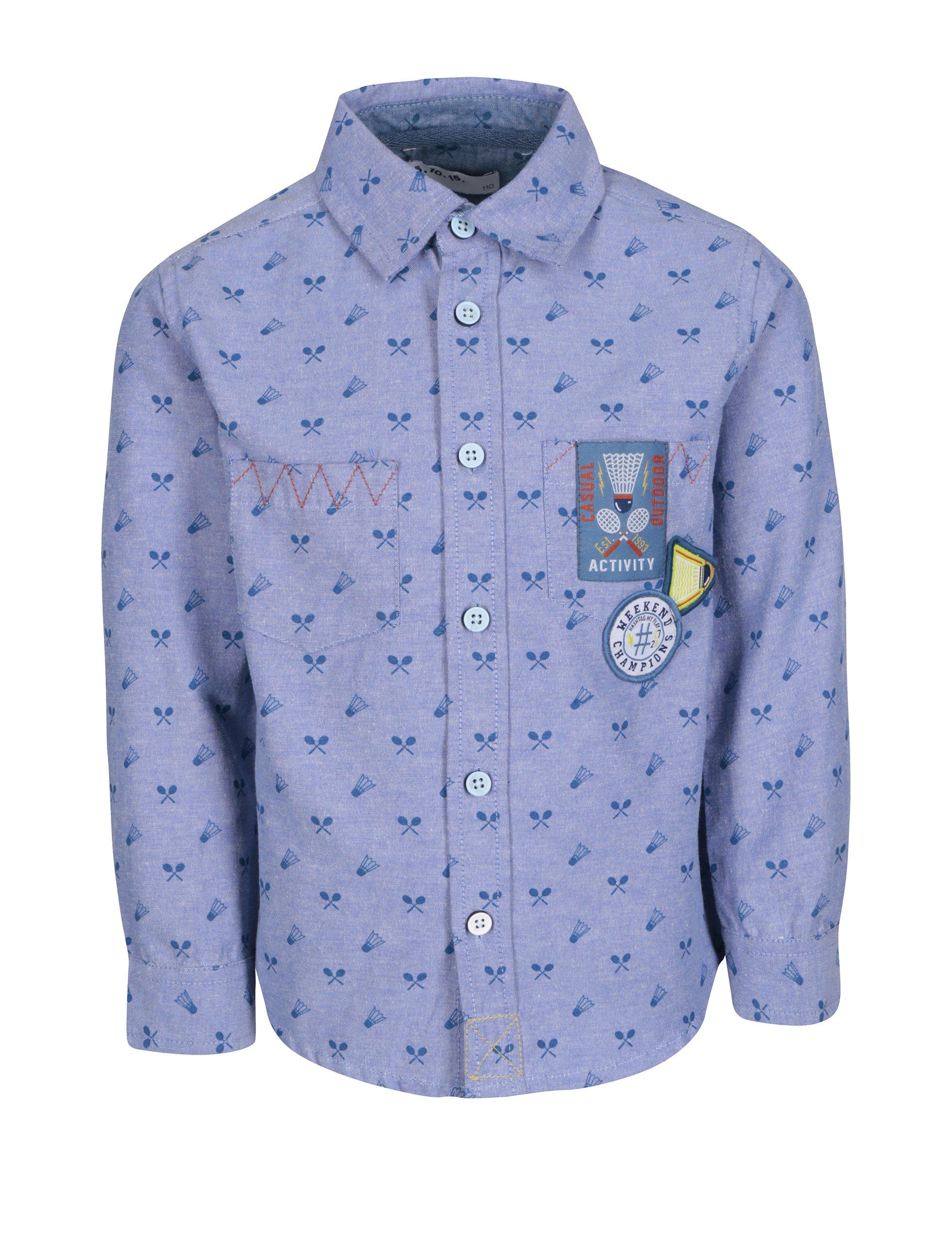 Svetlomodrá vzorovaná chlapčenská košeľa 5.10.15.