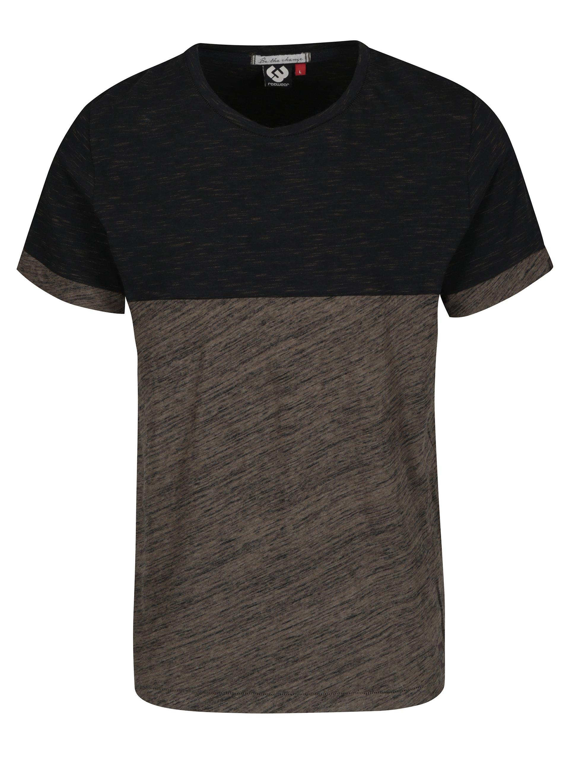 Černo-zelené pánské žíhané tričko Ragwear Geo