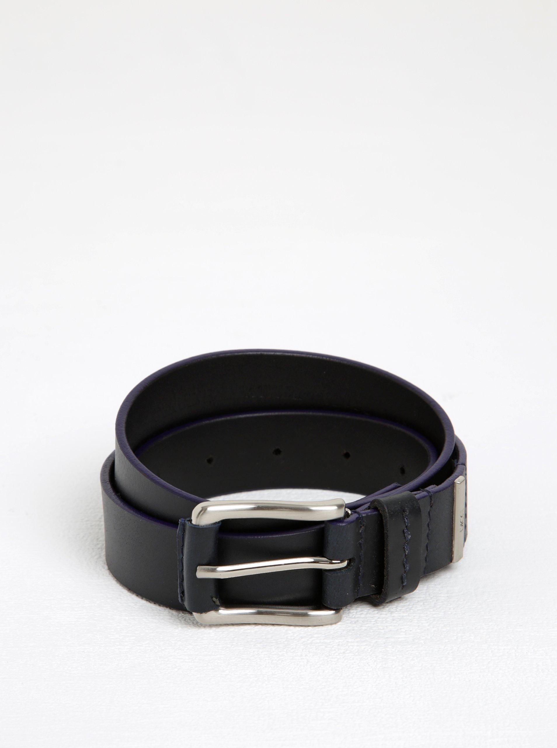 Modro-černý kožený pásek Dice Nevada