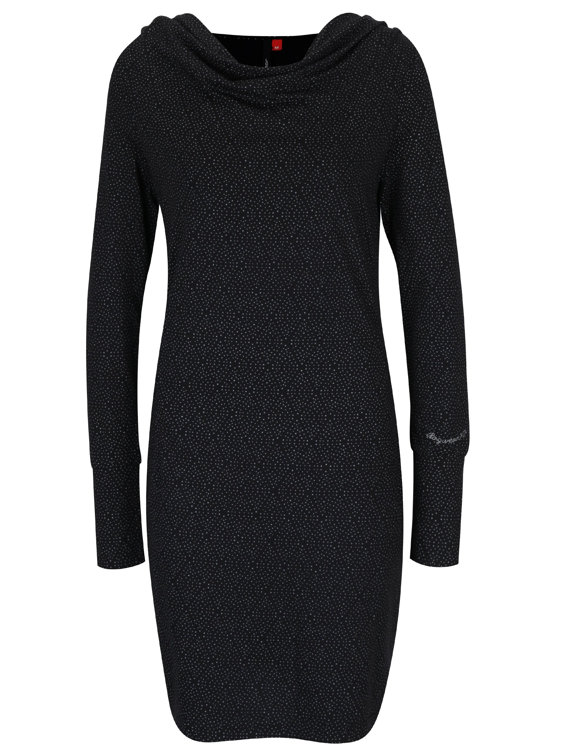 Černé vzorované šaty s dlouhým rukávem Ragwear River