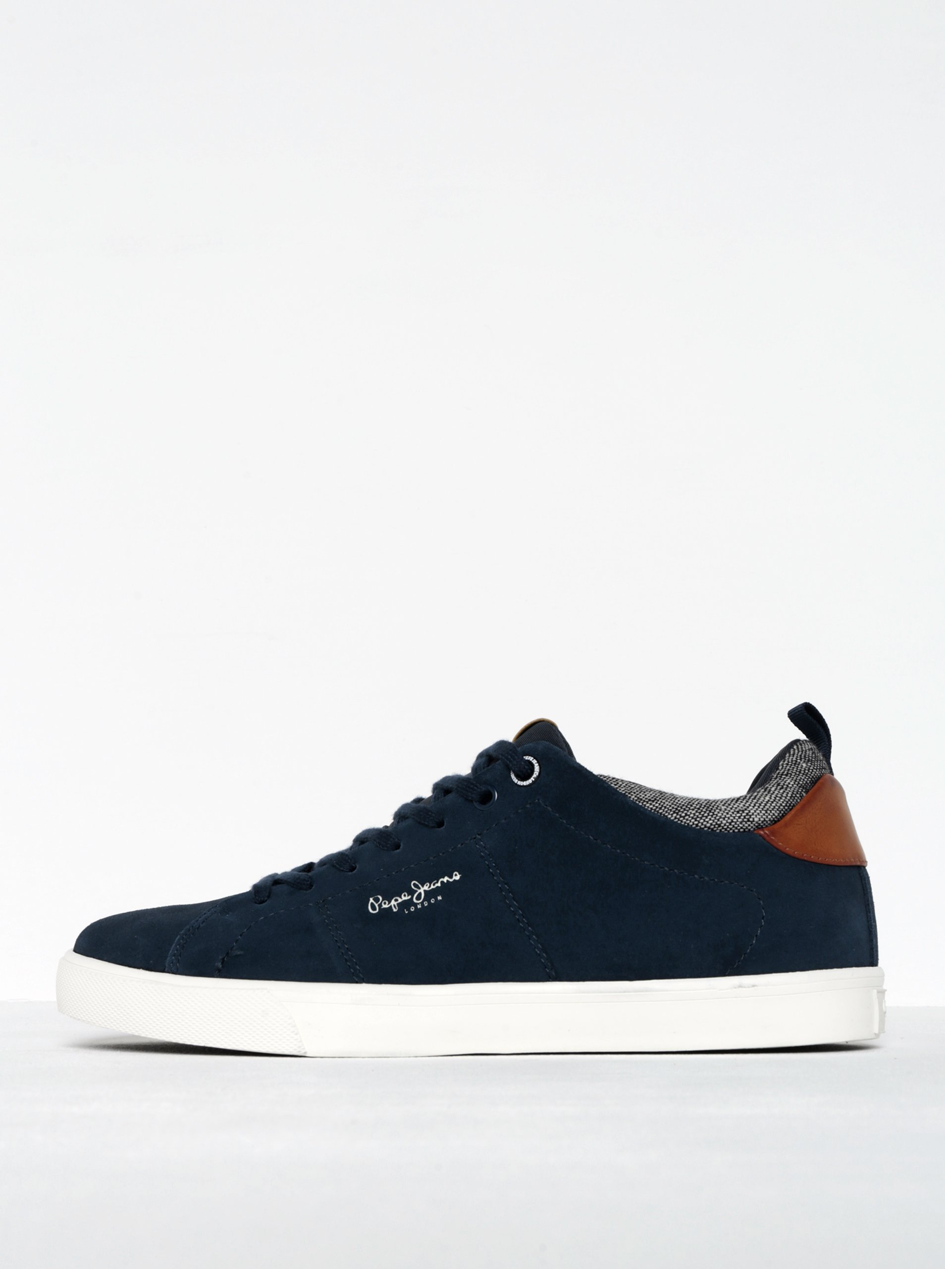 Tmavě modré pánské semišové tenisky Pepe Jeans Marton Tweed