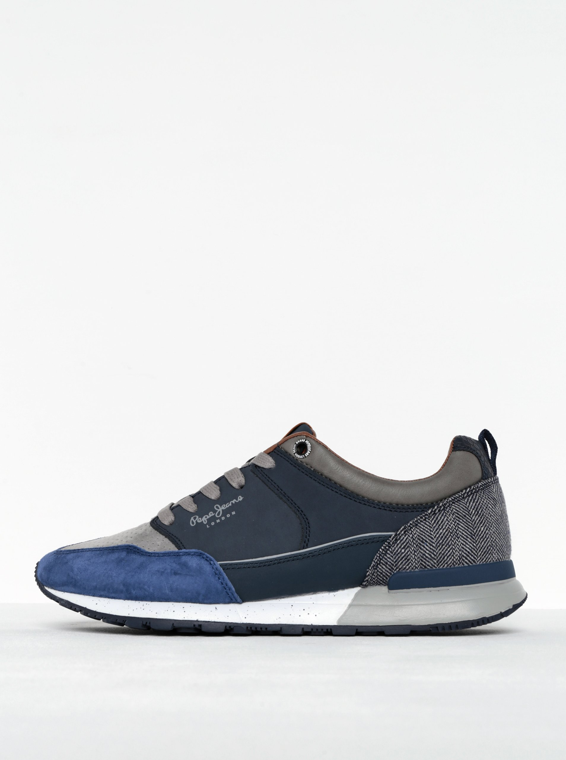 Šedo-modré pánské tenisky Pepe Jeans Boston 2.0