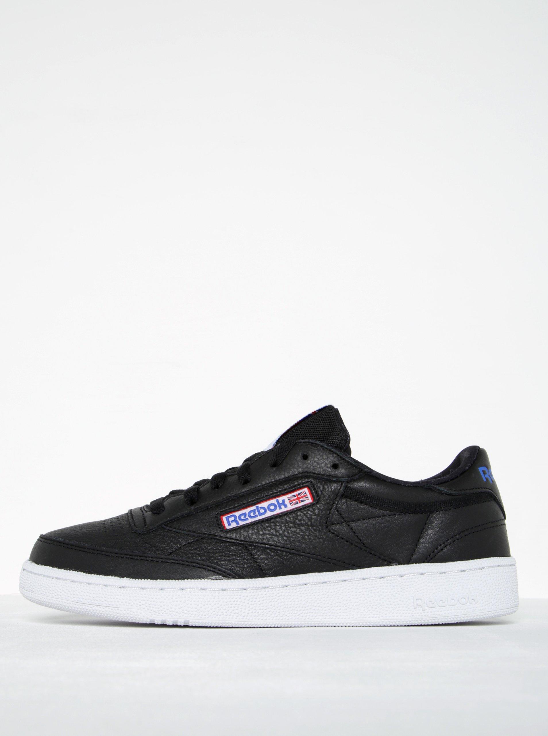 Černé pánské kožené tenisky Reebok