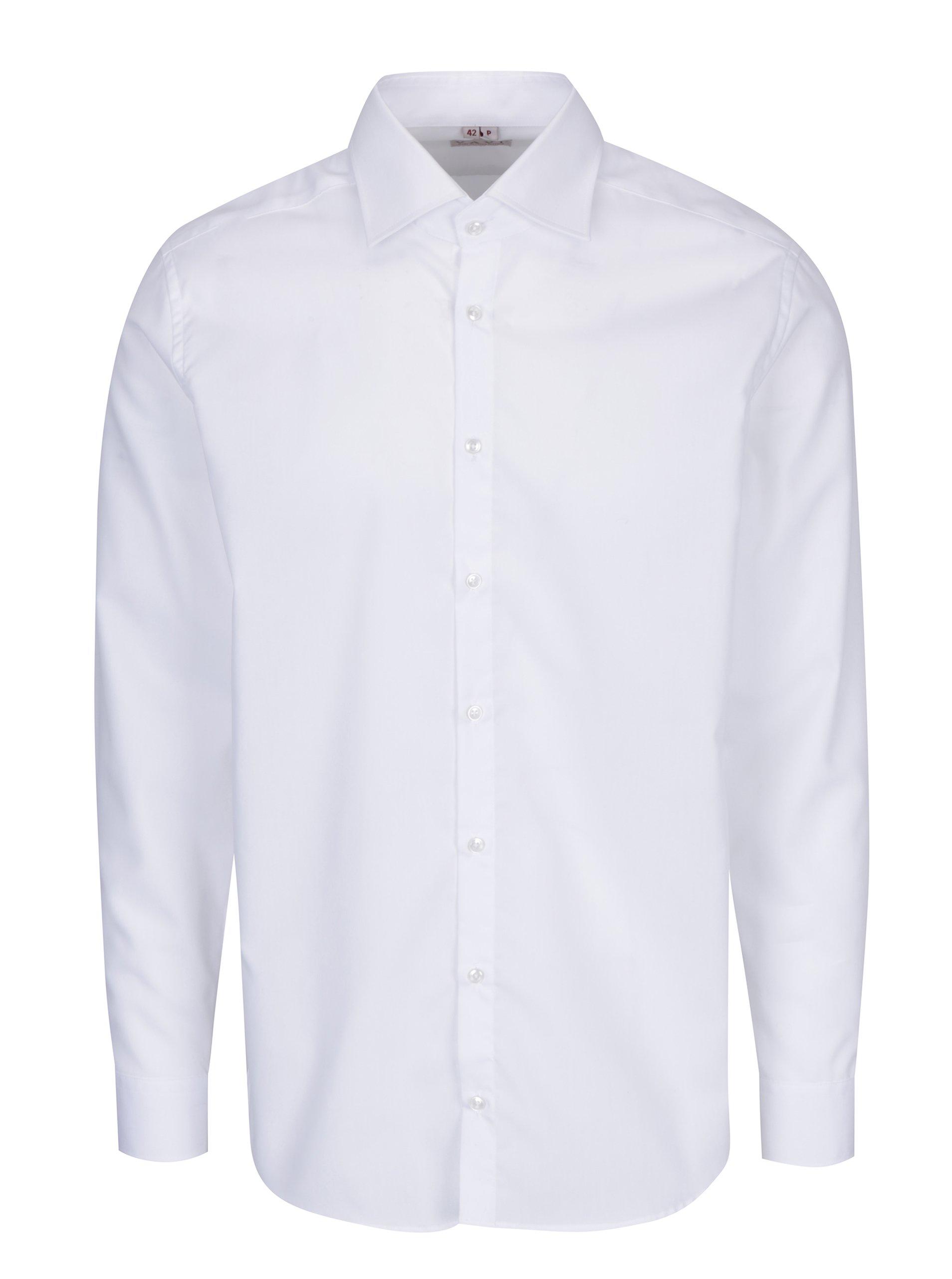 8d3fb631a66 Bílá pánská formální košile VAVI