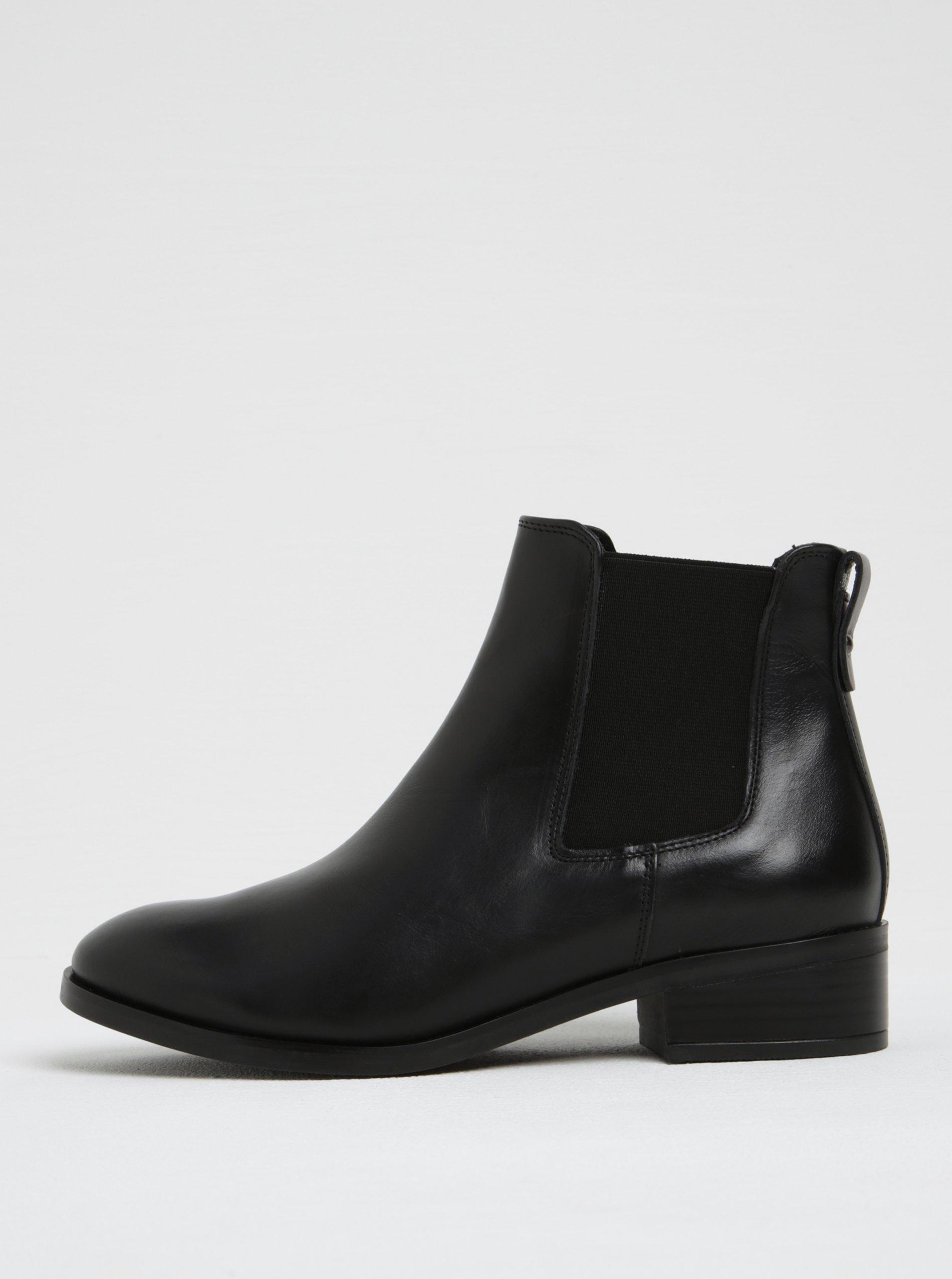 Černé dámské kožené chelsea boty ALDO Meaven