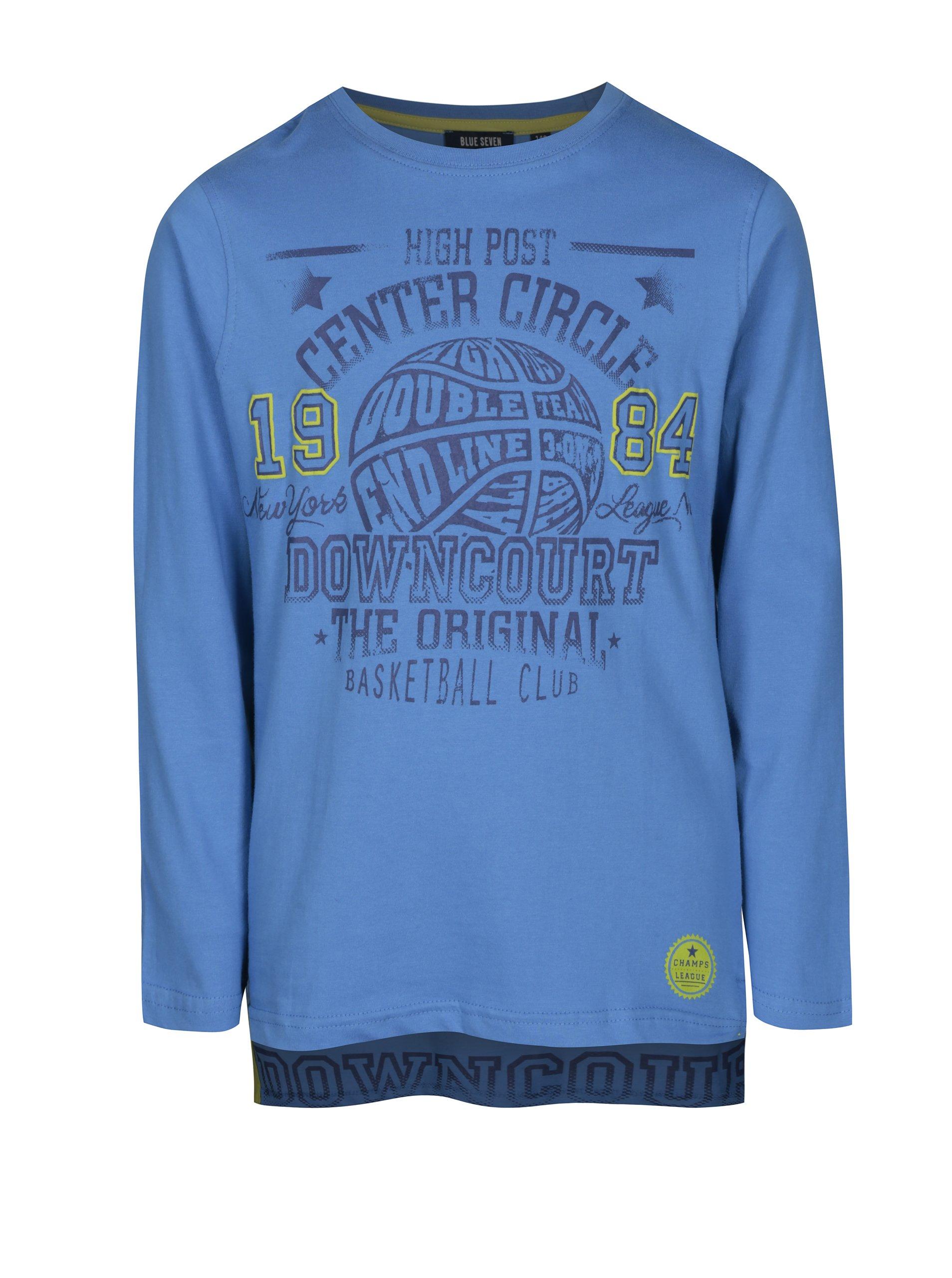 4fdb607bc0d Krémové klučičí pruhované tričko s potiskem Blue Seven - Akční cena ...