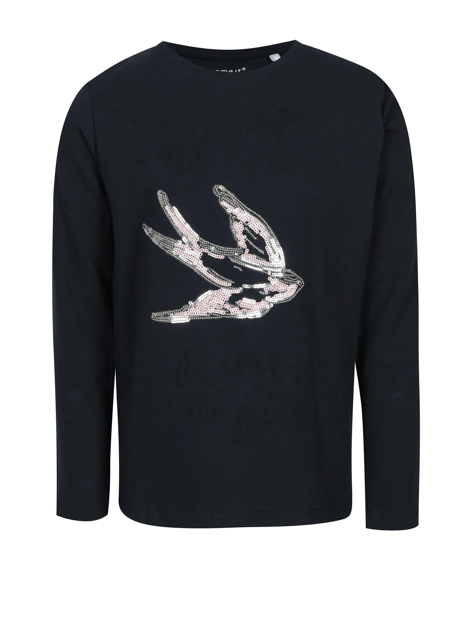 8e03157b5e3 Tmavě modré holčičí tričko s motivem vlaštovky name it Kannas Holky   Topy