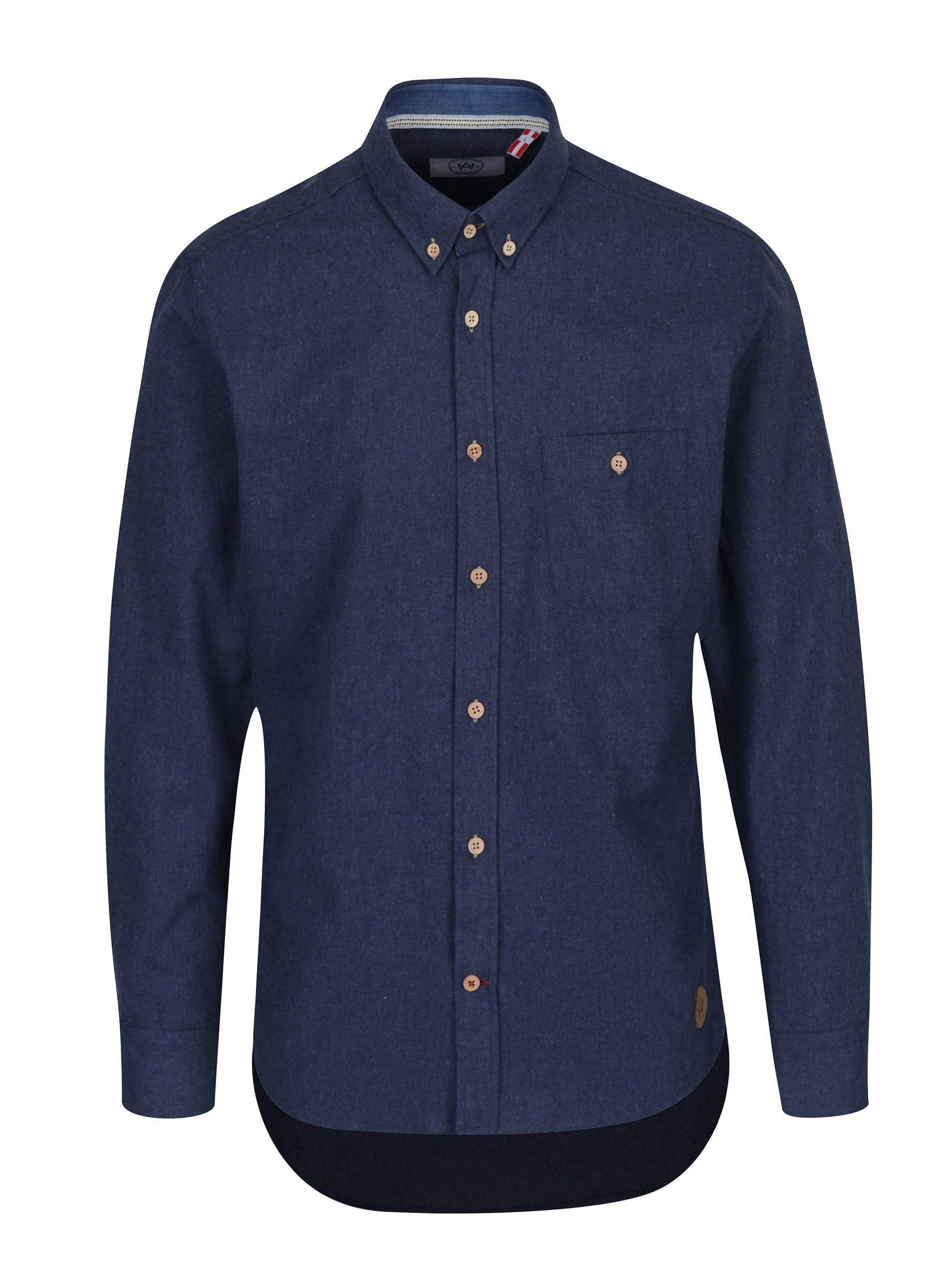 Modrá žíhaná košile Kronstadt Dean