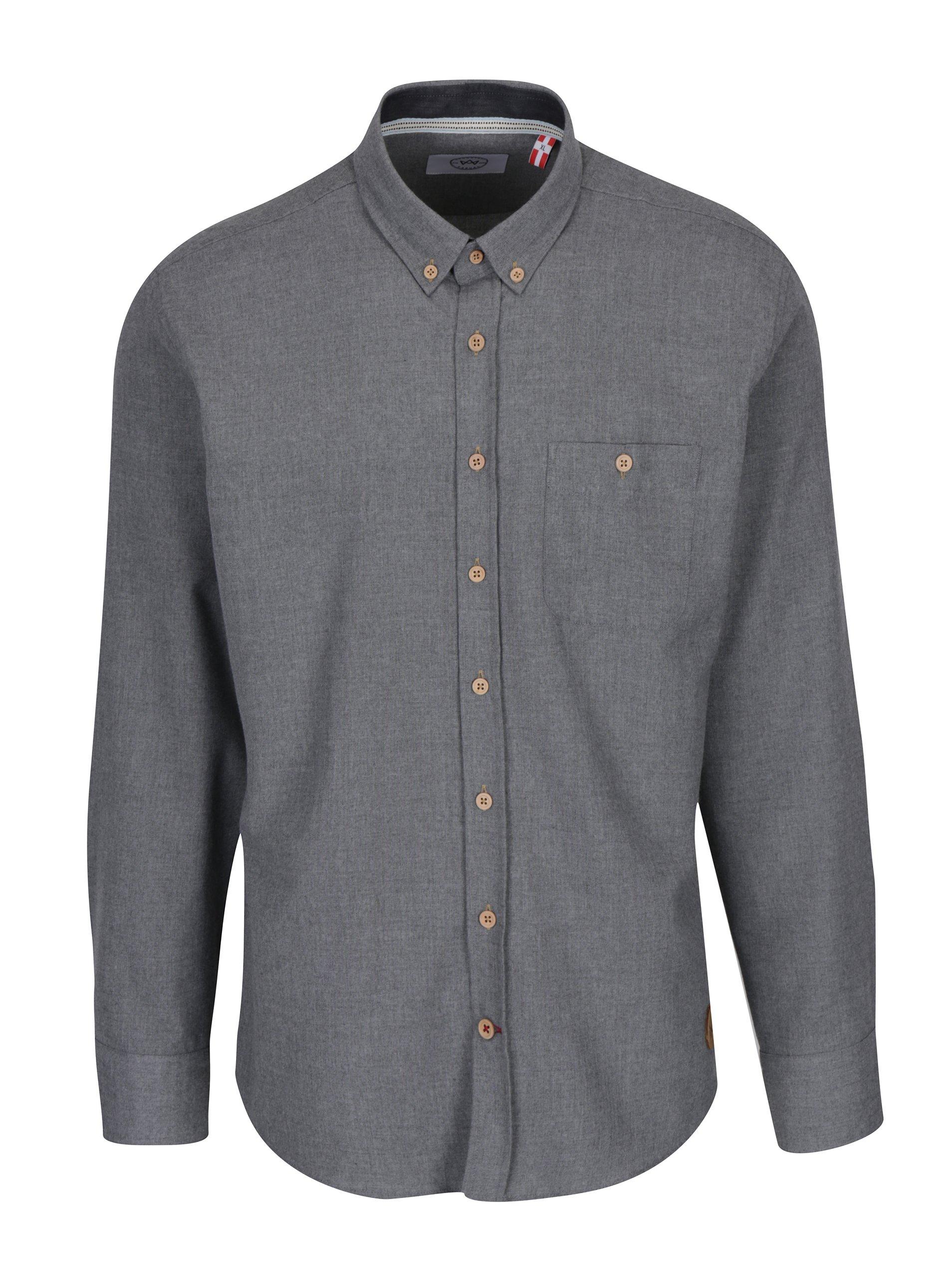 Šedá žíhaná košile Kronstadt Dean