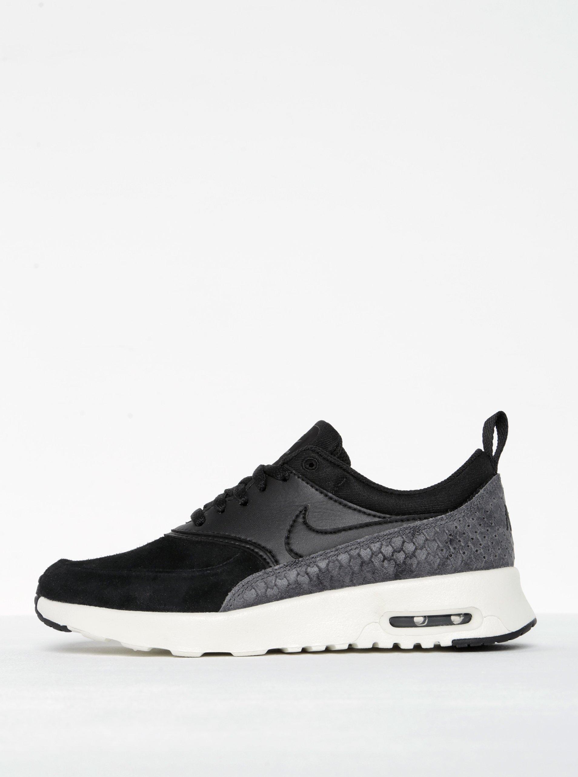 Černé dámské semišové tenisky se strukturovanými detaily Nike Air Max