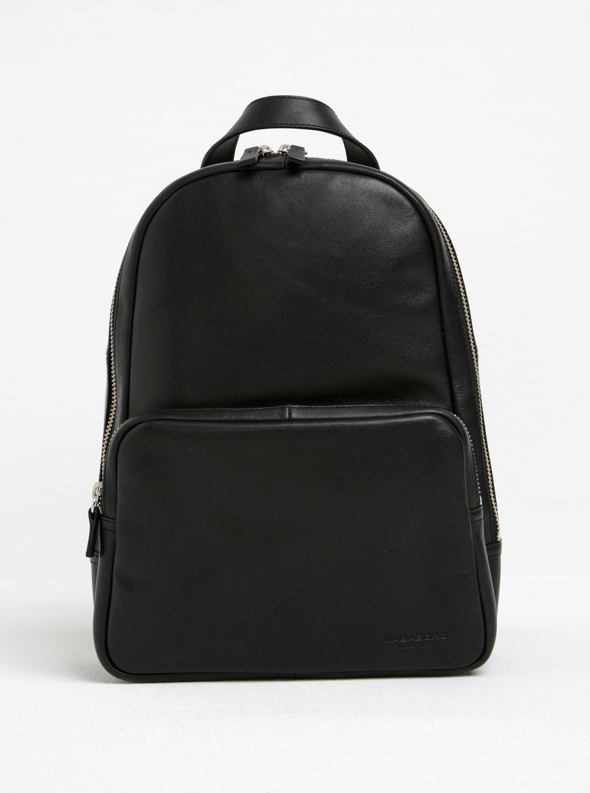 Černý dámský kožený batoh Vagabond Lyon