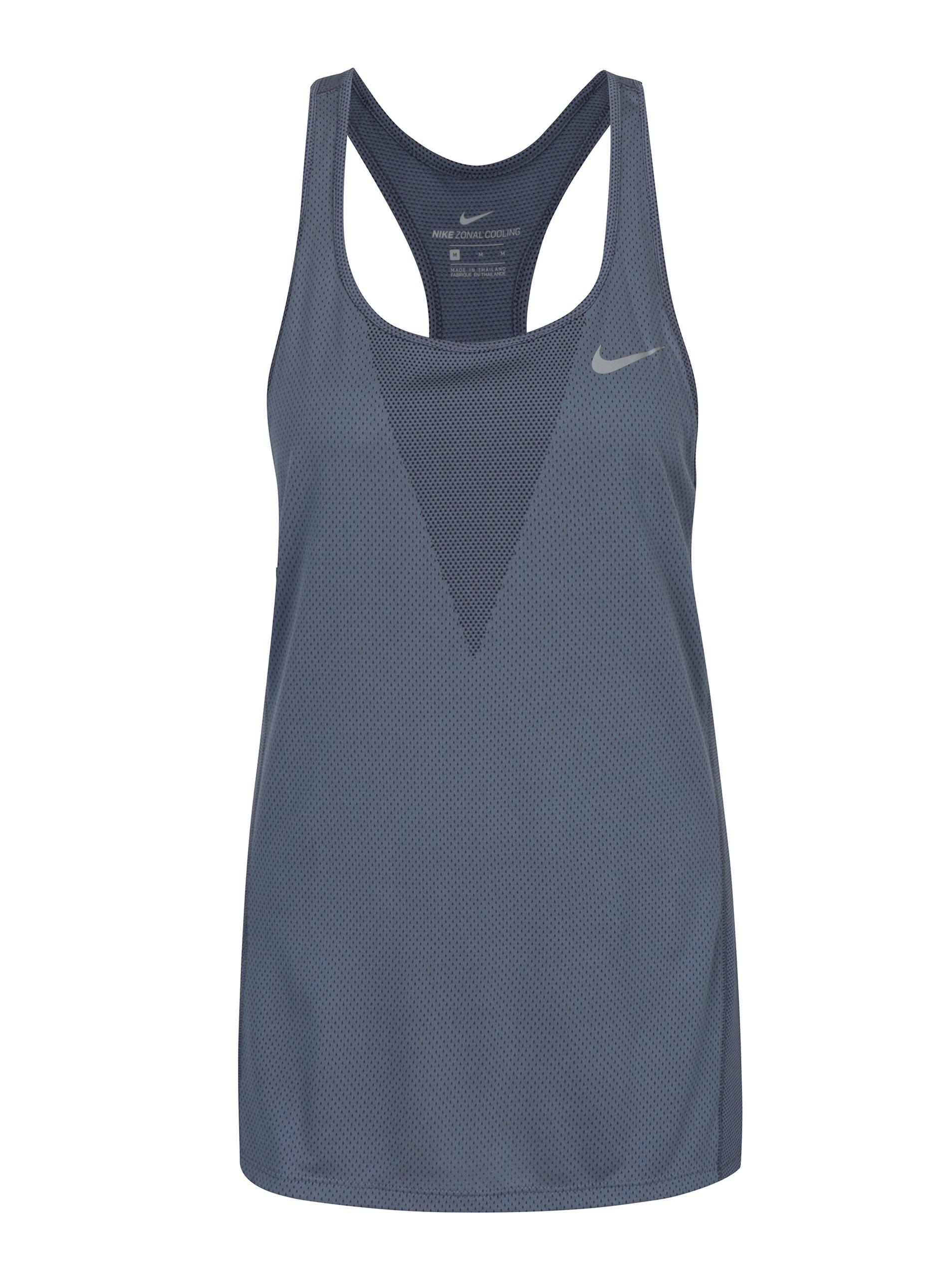 Modré dámské funkční tílko Nike