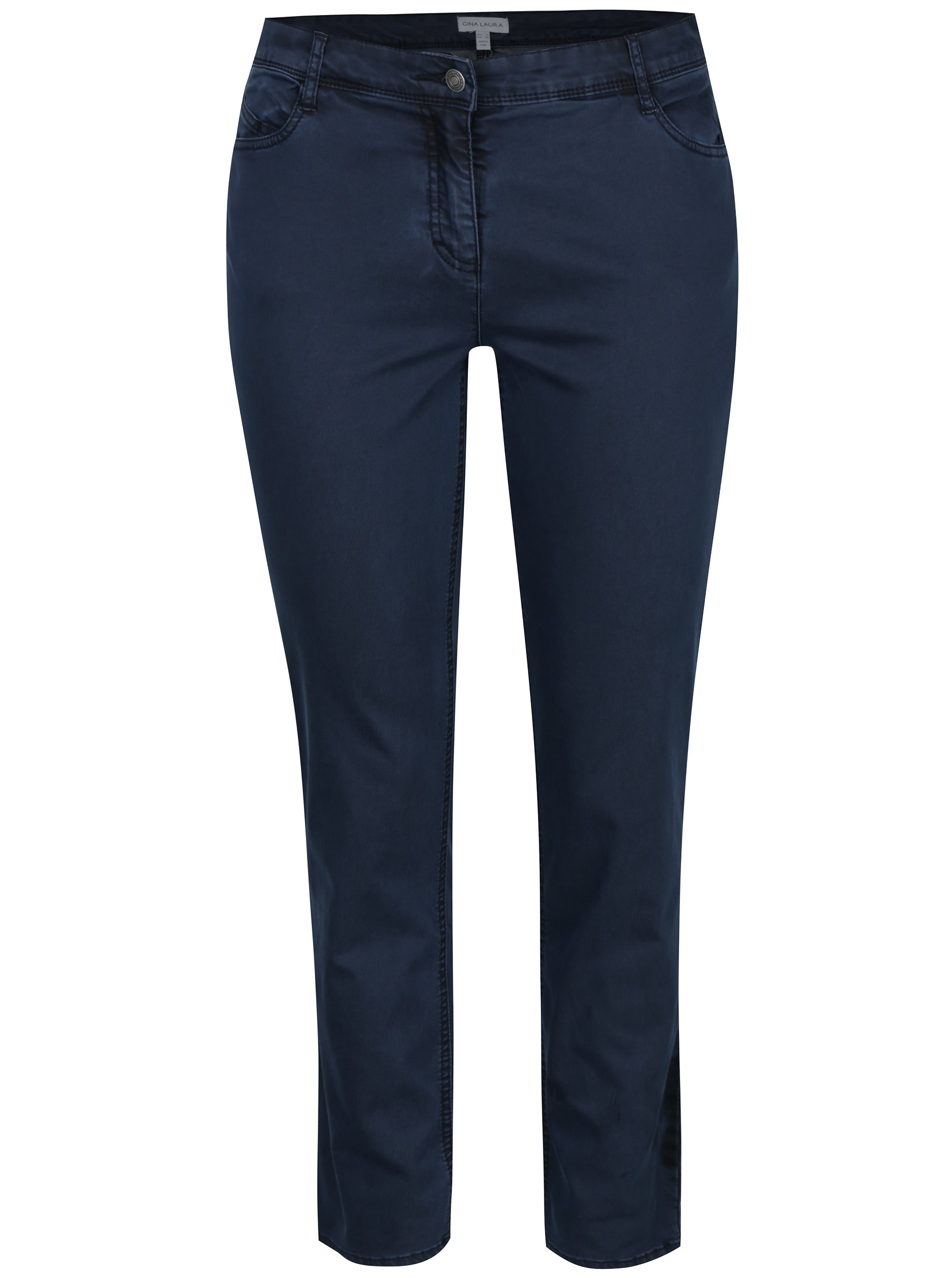 Tmavě modré rovné regular fit džíny Gina Laura