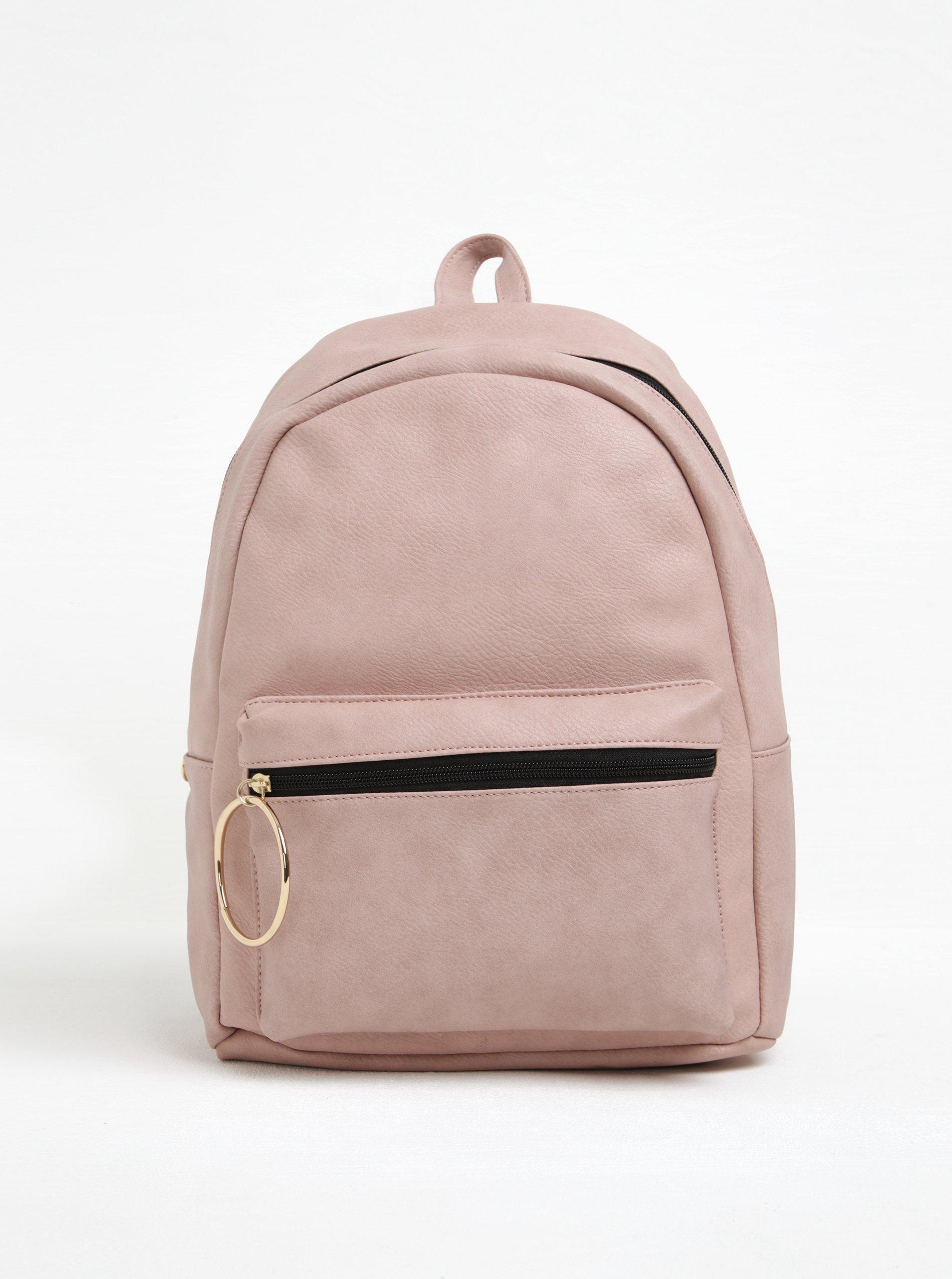 Starorůžový batoh s kapsou TALLY WEiJL
